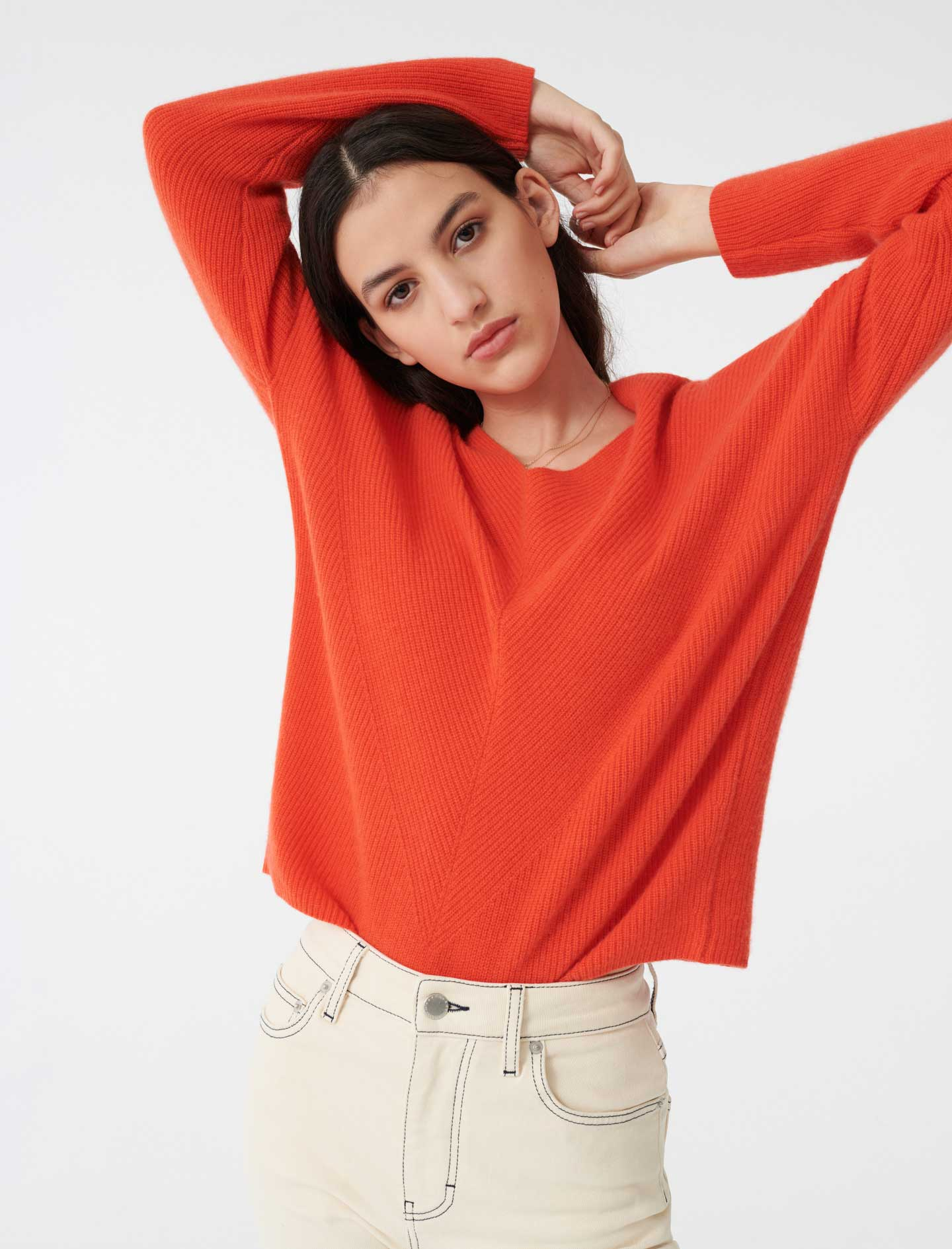 Cashmere sweater - Orange
