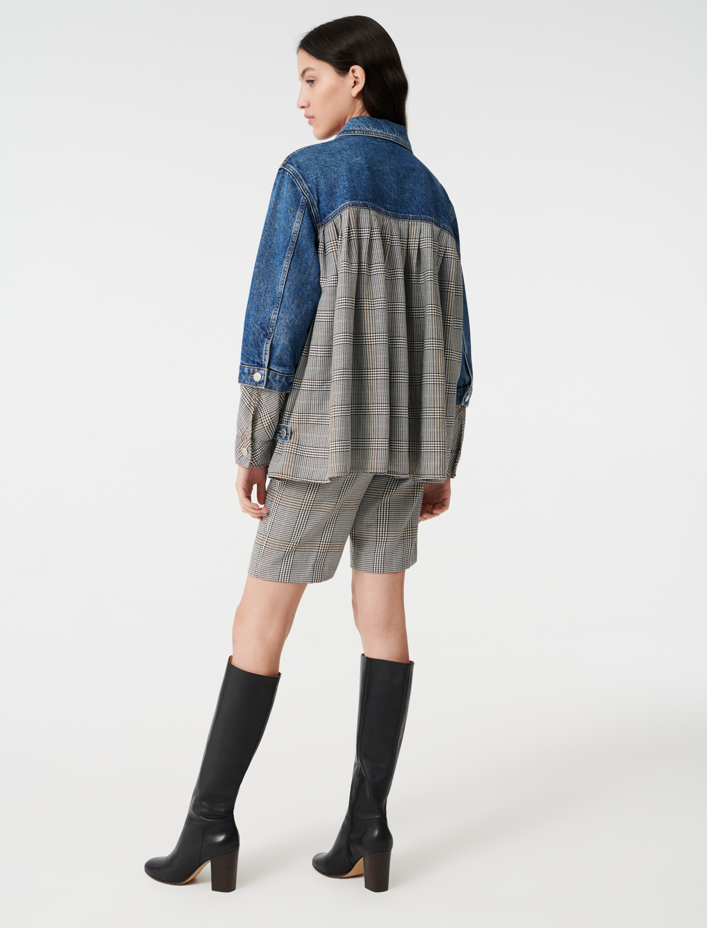 Denim trompe l'oeil jacket - Blue