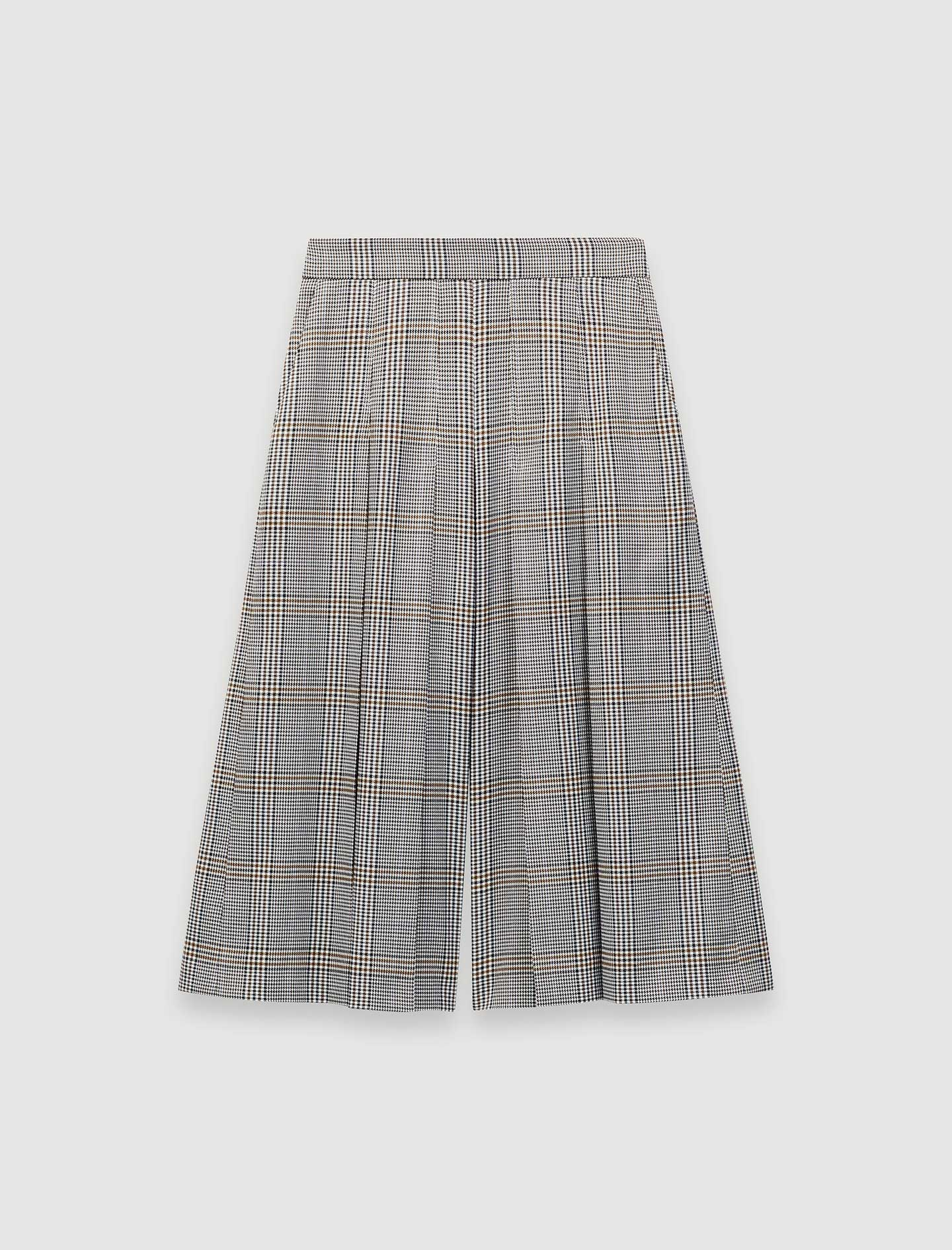 Checked Bermuda style trousers - Grey