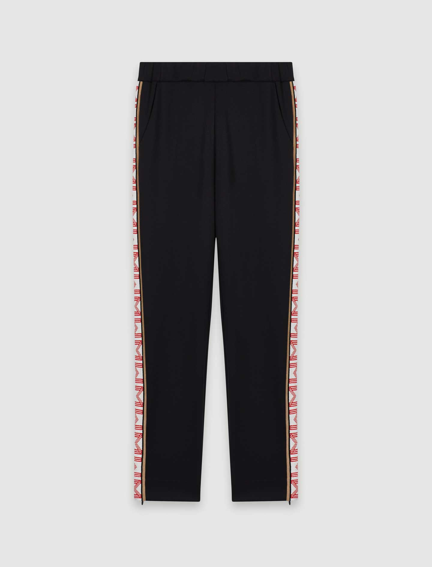 Tracksuit bottoms with bands  - Black