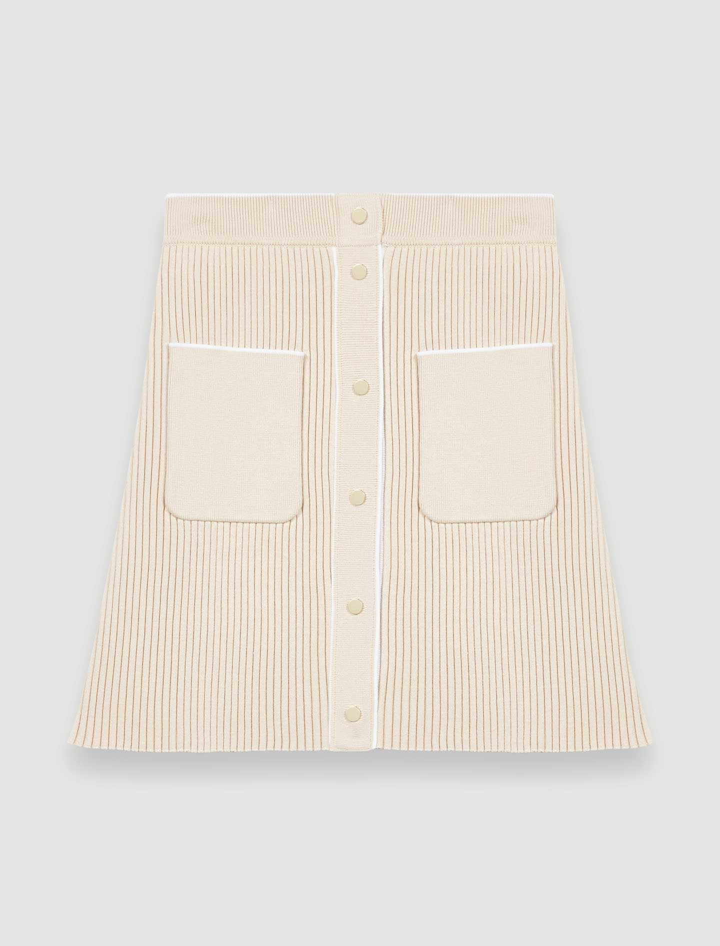 Close fitting knit skirt - Nude