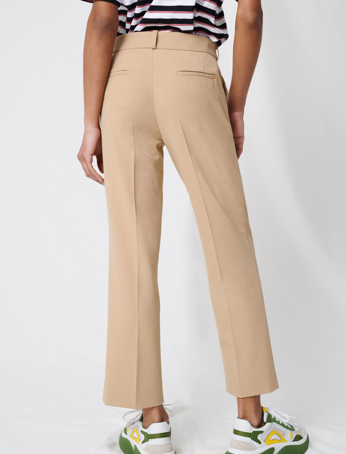 Beige tailored trousers - Nude