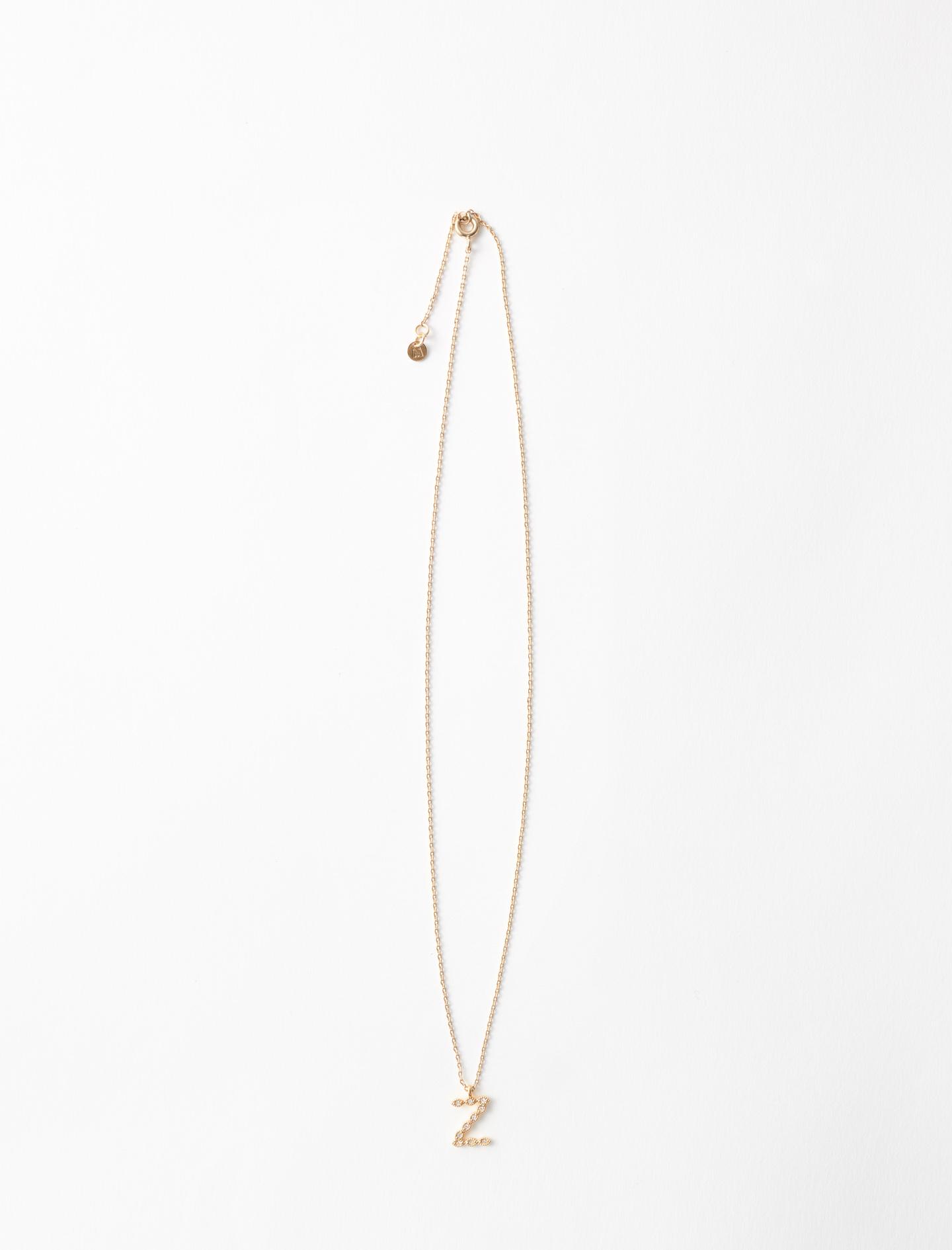 Rhinestone Z necklace - Gold