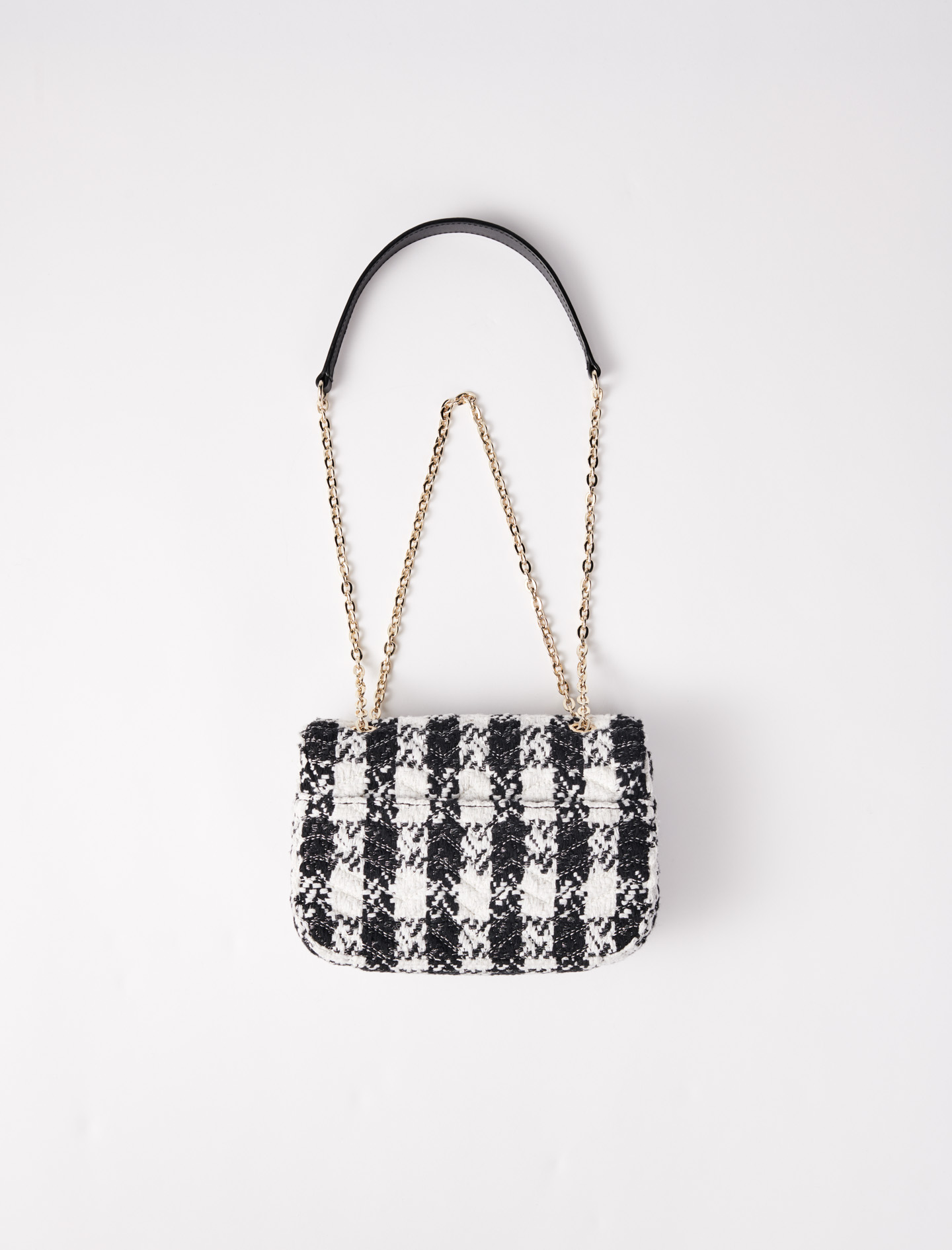 Small bag with contrasting tweed flap - Multi-colour