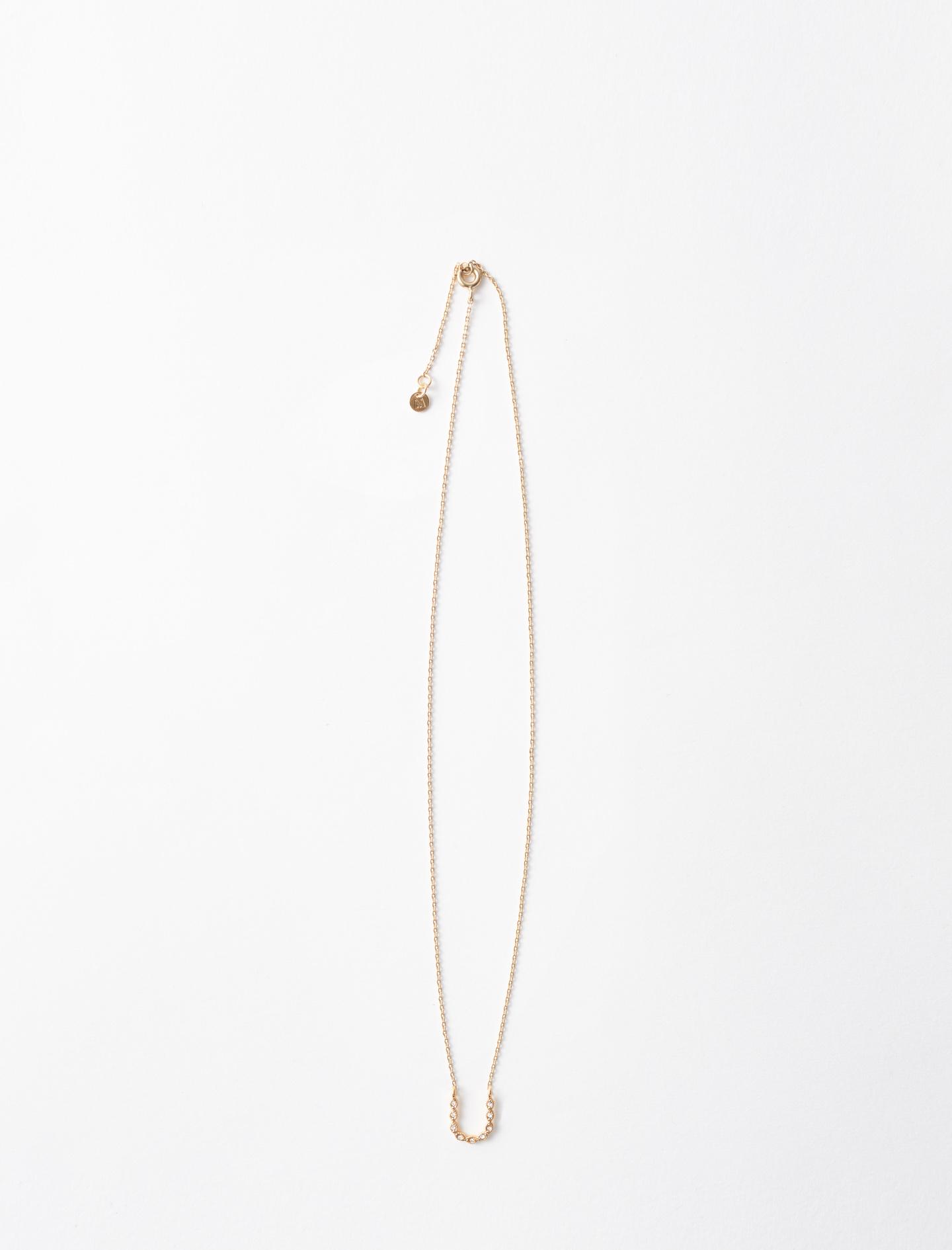 Rhinestone U necklace - Gold