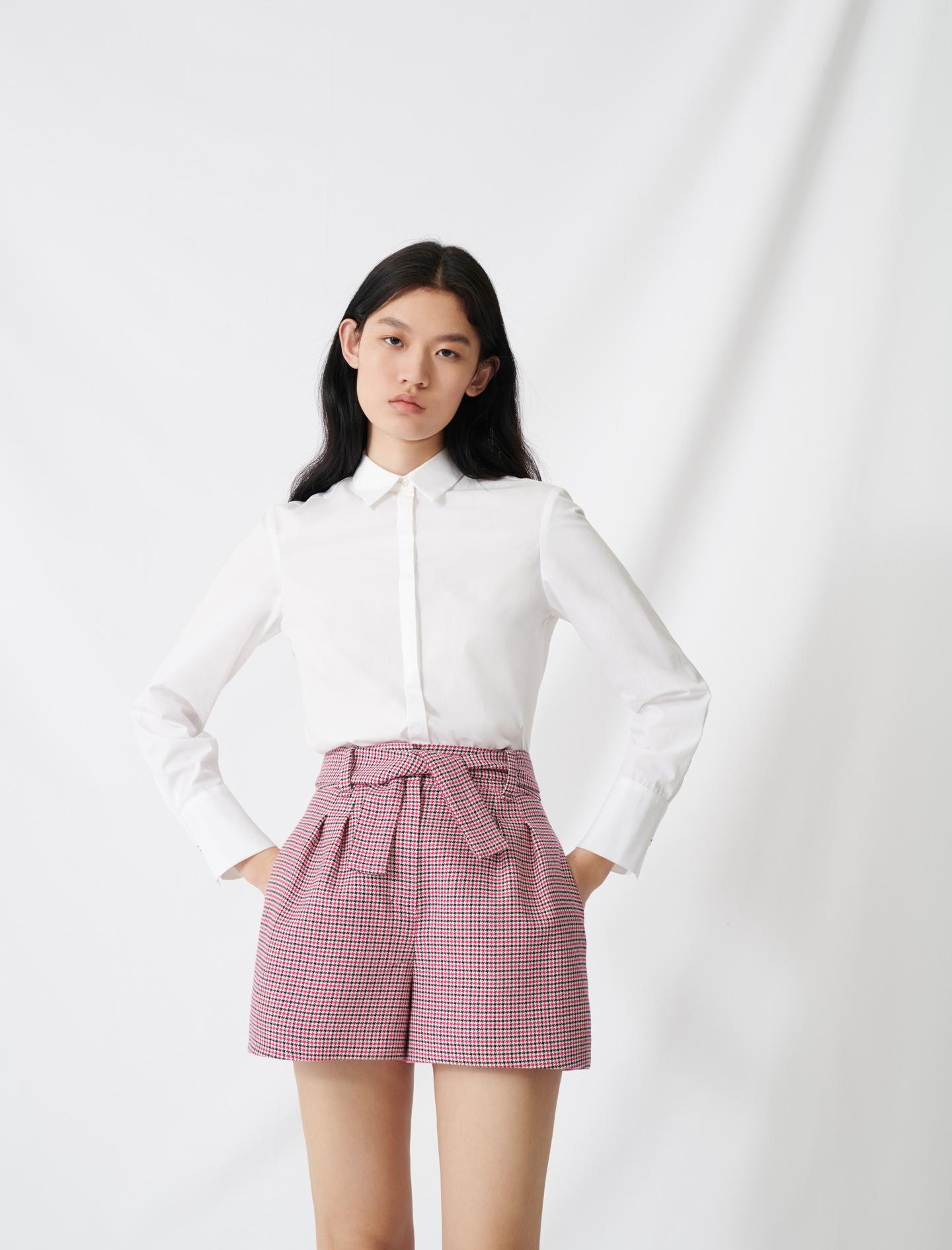 White poplin shirt - White