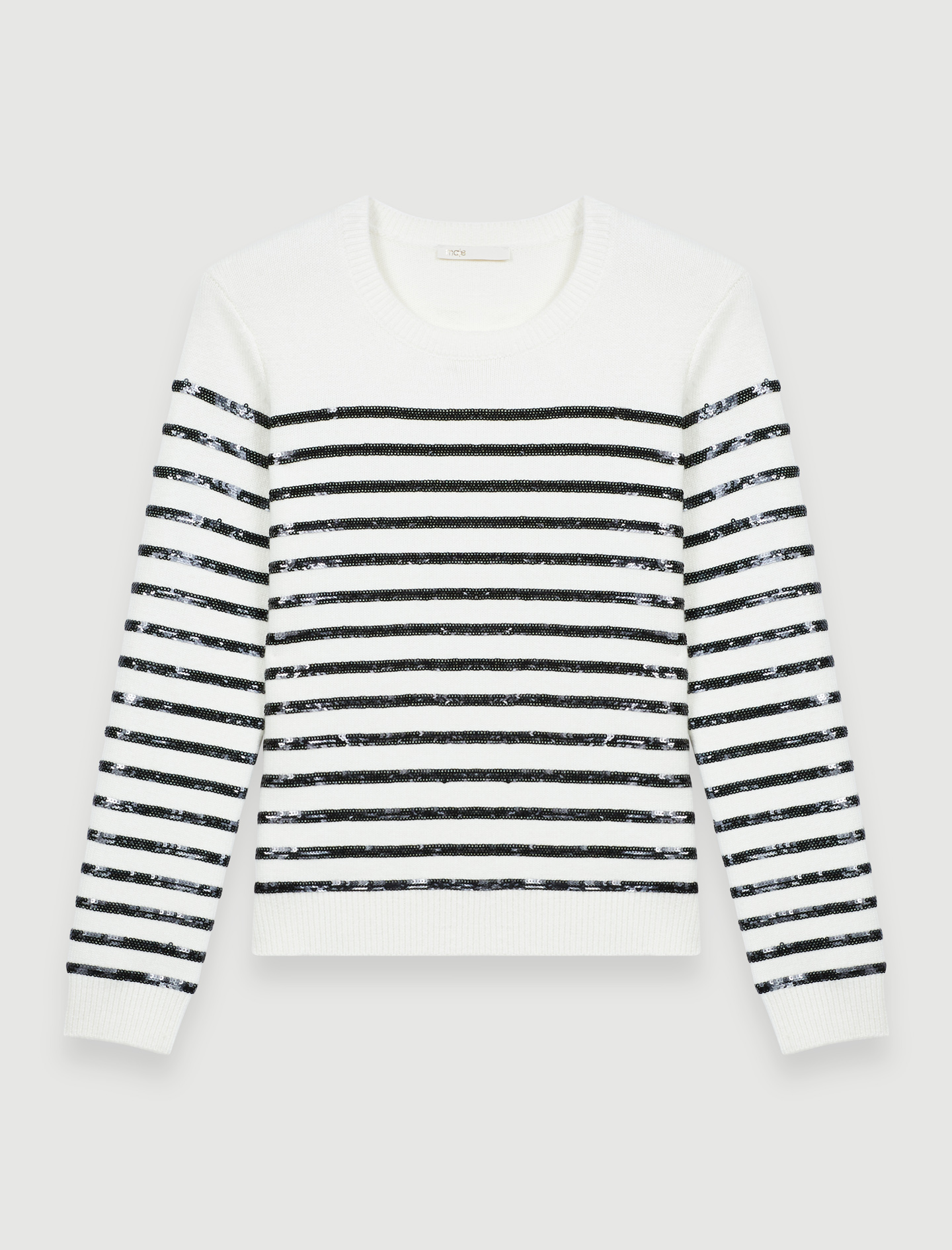 Breton jumper with sequins - Ecru