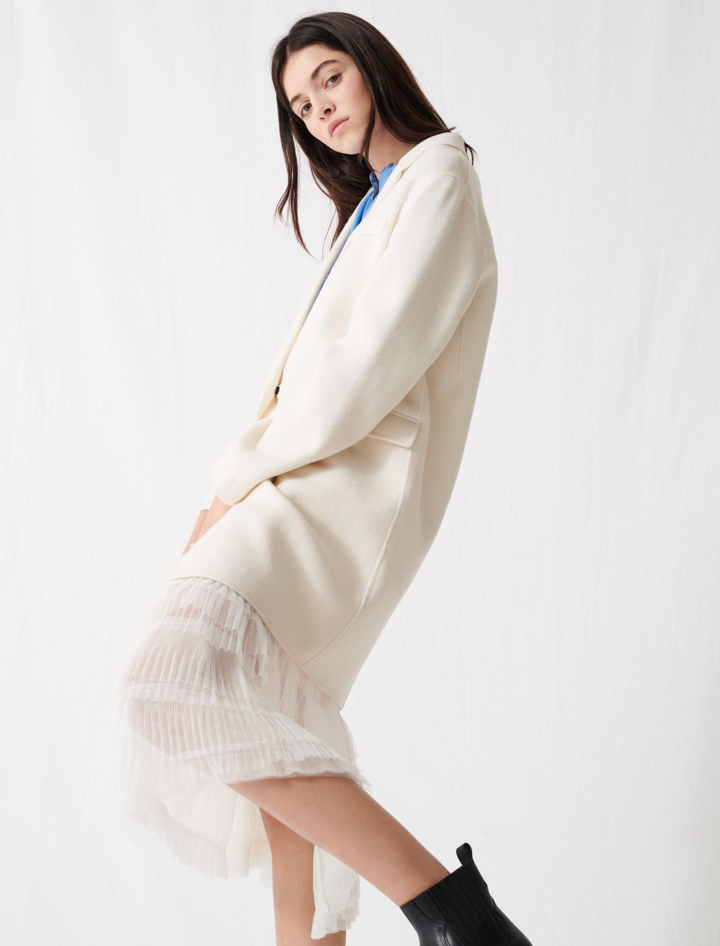 White double-faced midi coat - White