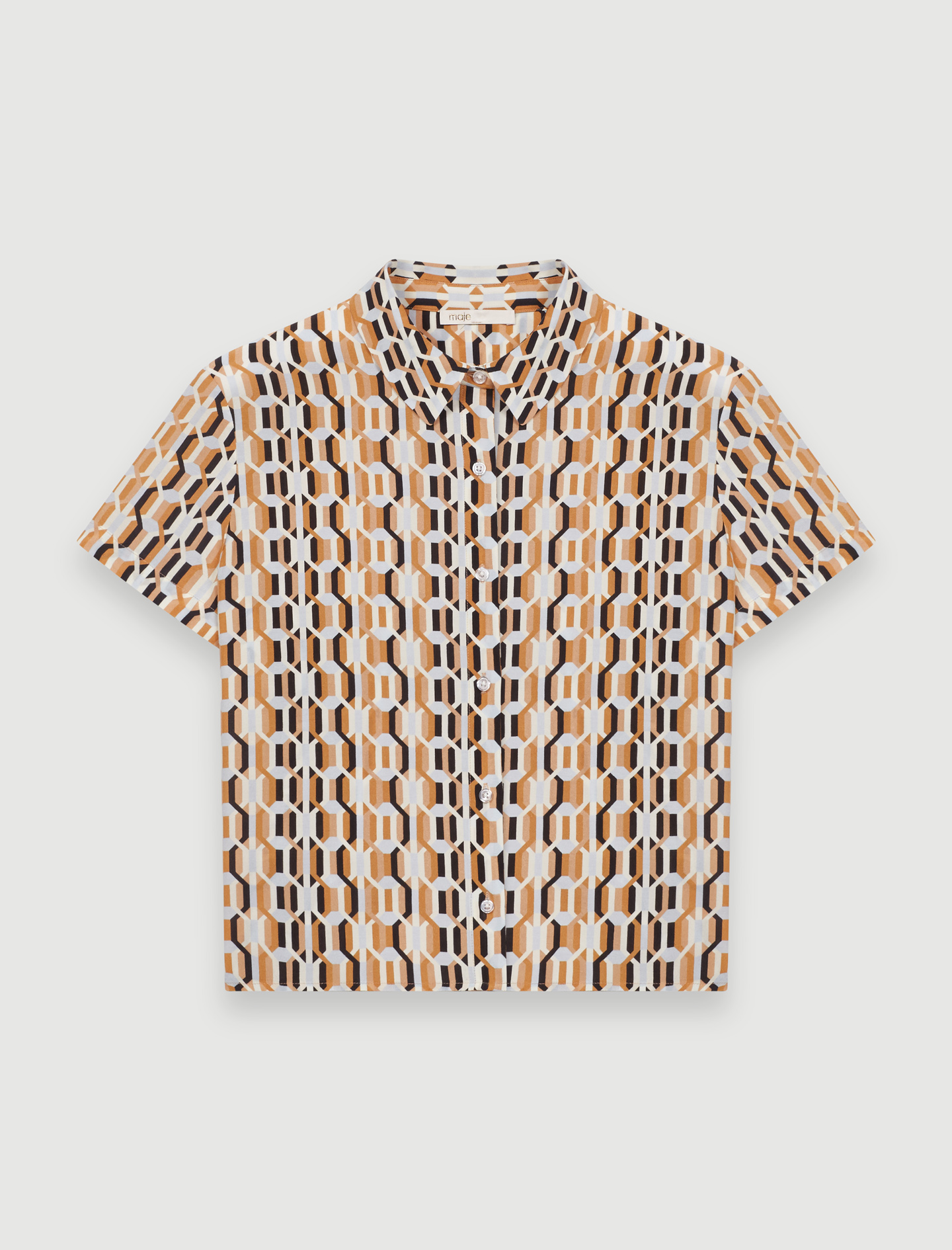 Printed short-sleeved shirt - Blue