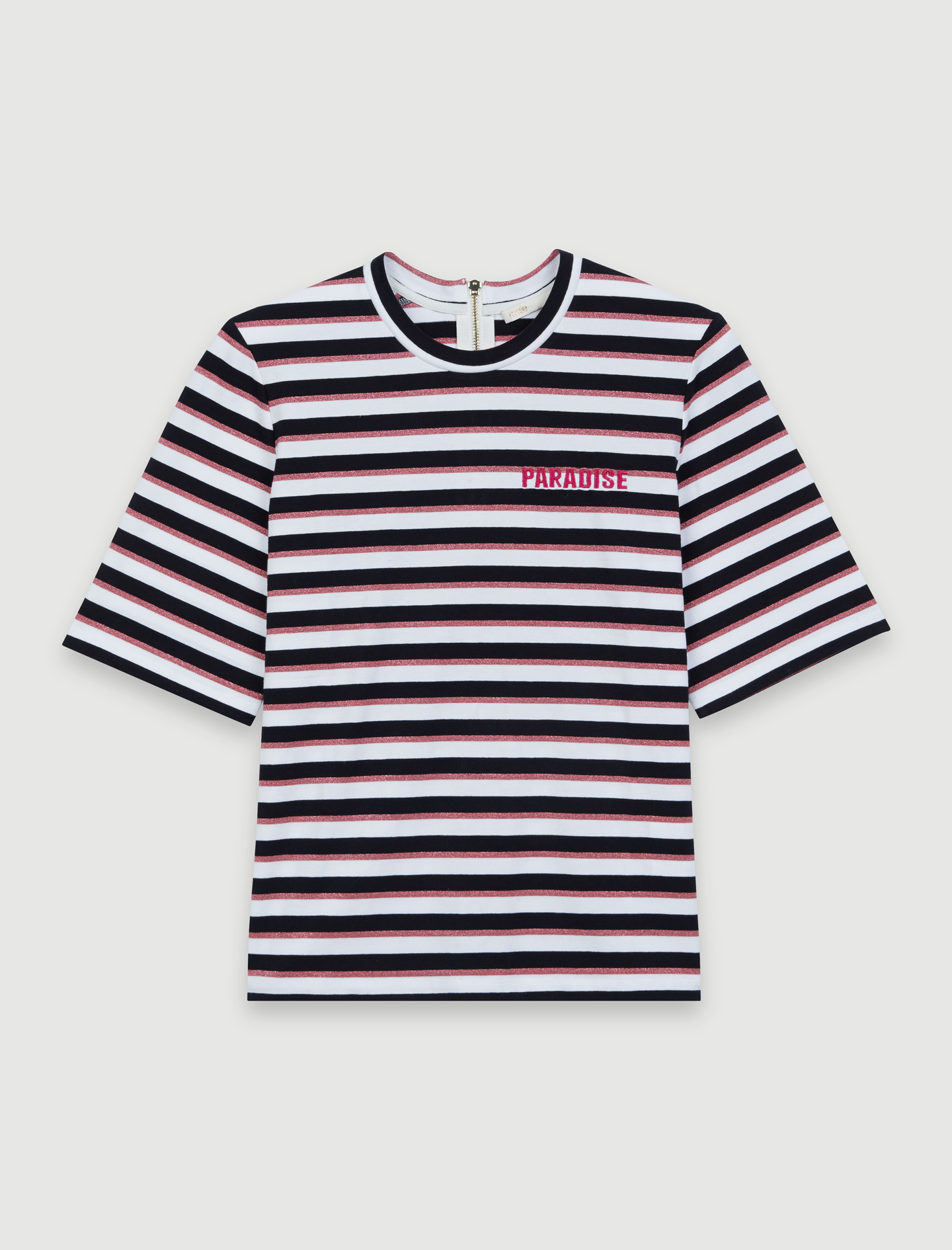 T-shirt with tricoloured stripes - Multi-colour