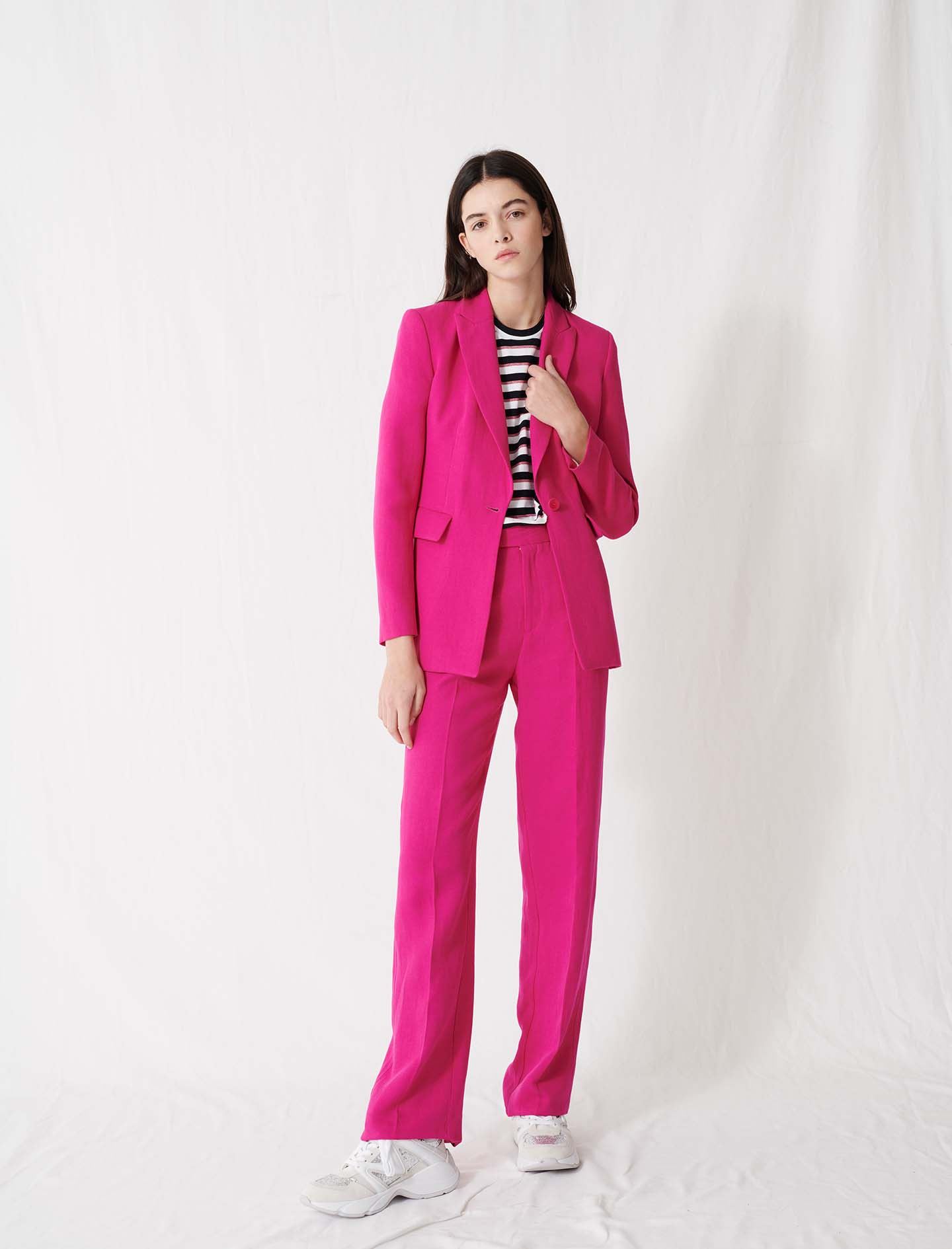 Fuchsia Tailored Jacket - Pink