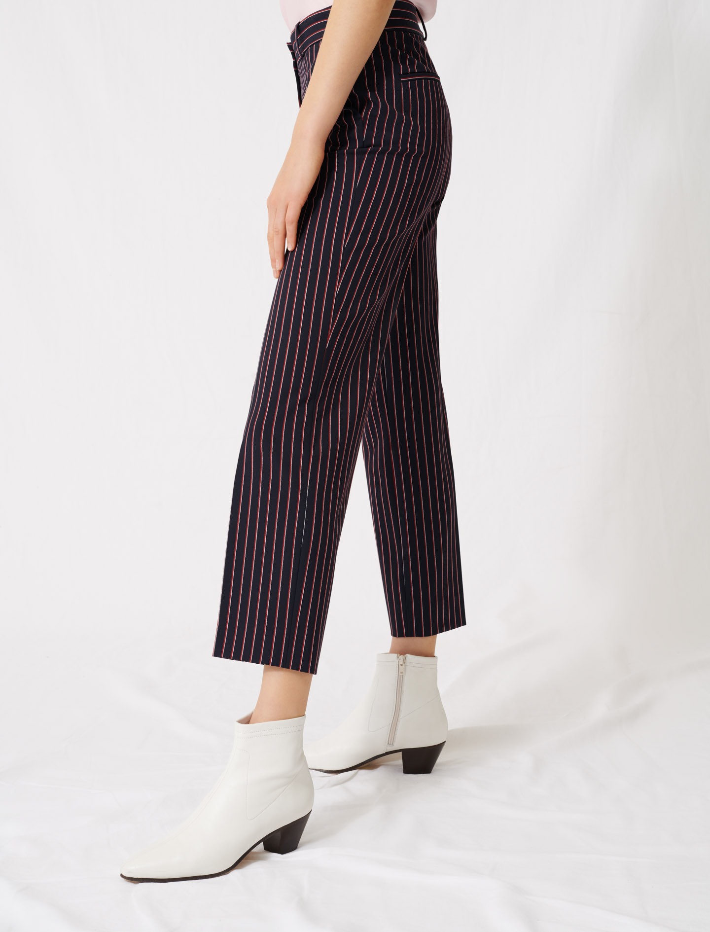 Striped suit trousers - Navy