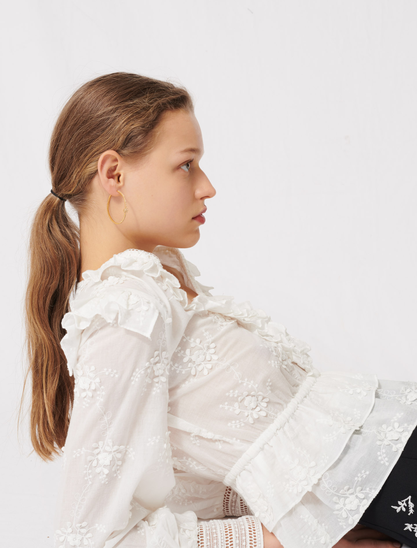 Broderie anglaise top - Ecru