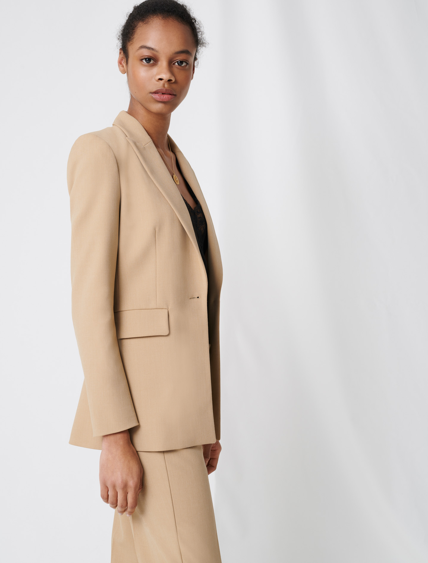 Nude fitted tailored jacket - Nude