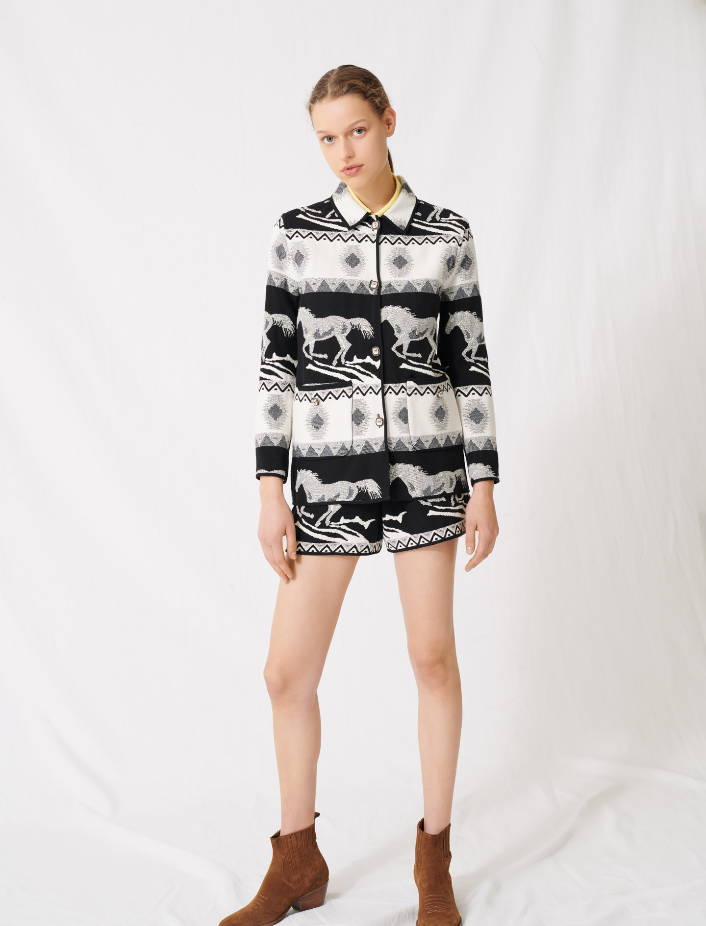 Reversible jacquard coat - Multiclr