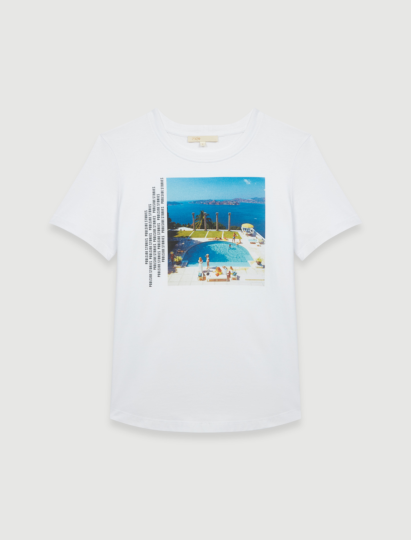 White screen-printed T-shirt - Ecru