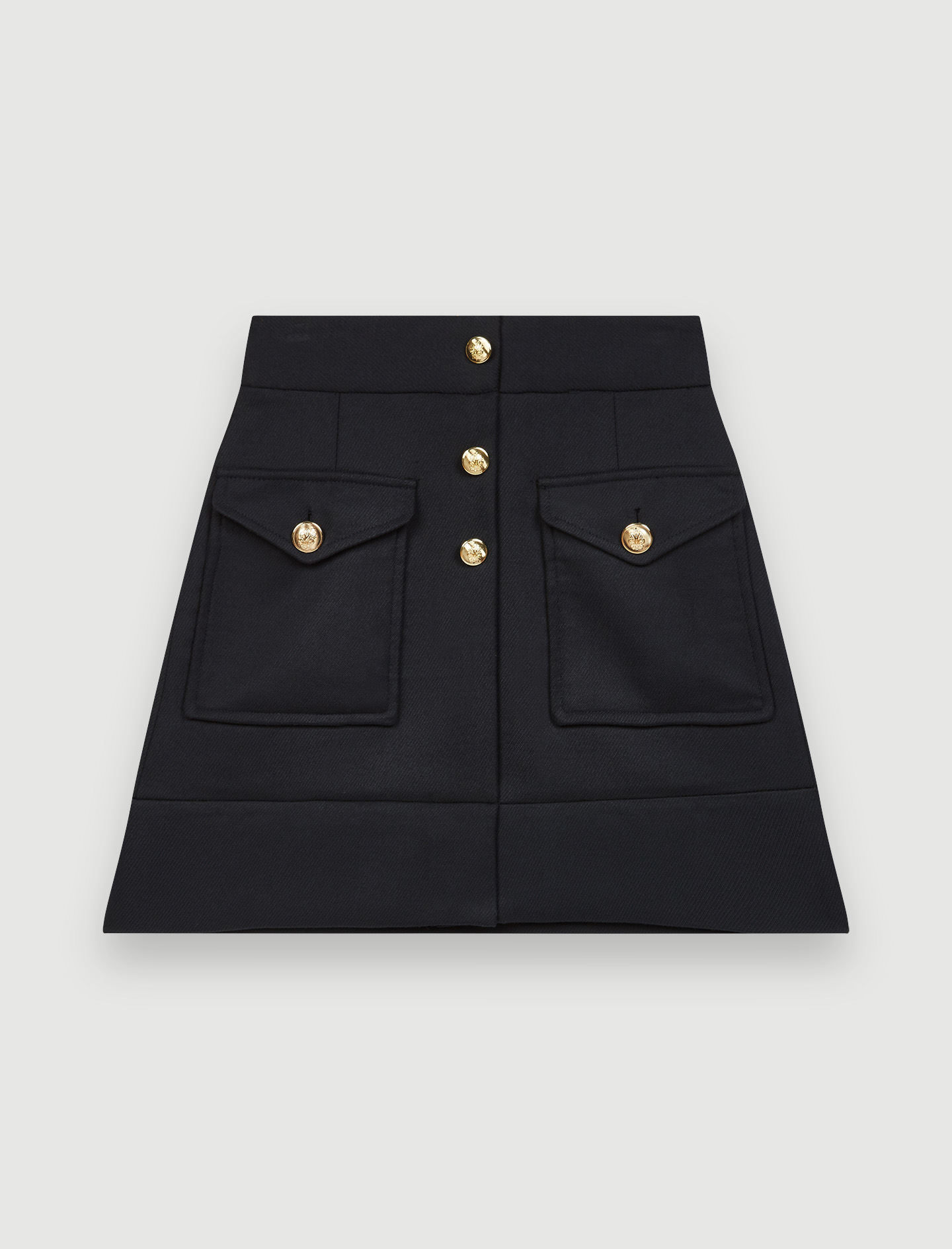 Recycled polyester A-line skirt - Navy