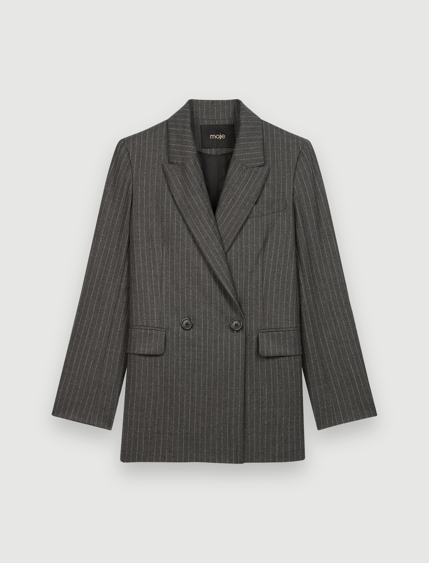 Suit jacket with tennis stripes - Grey