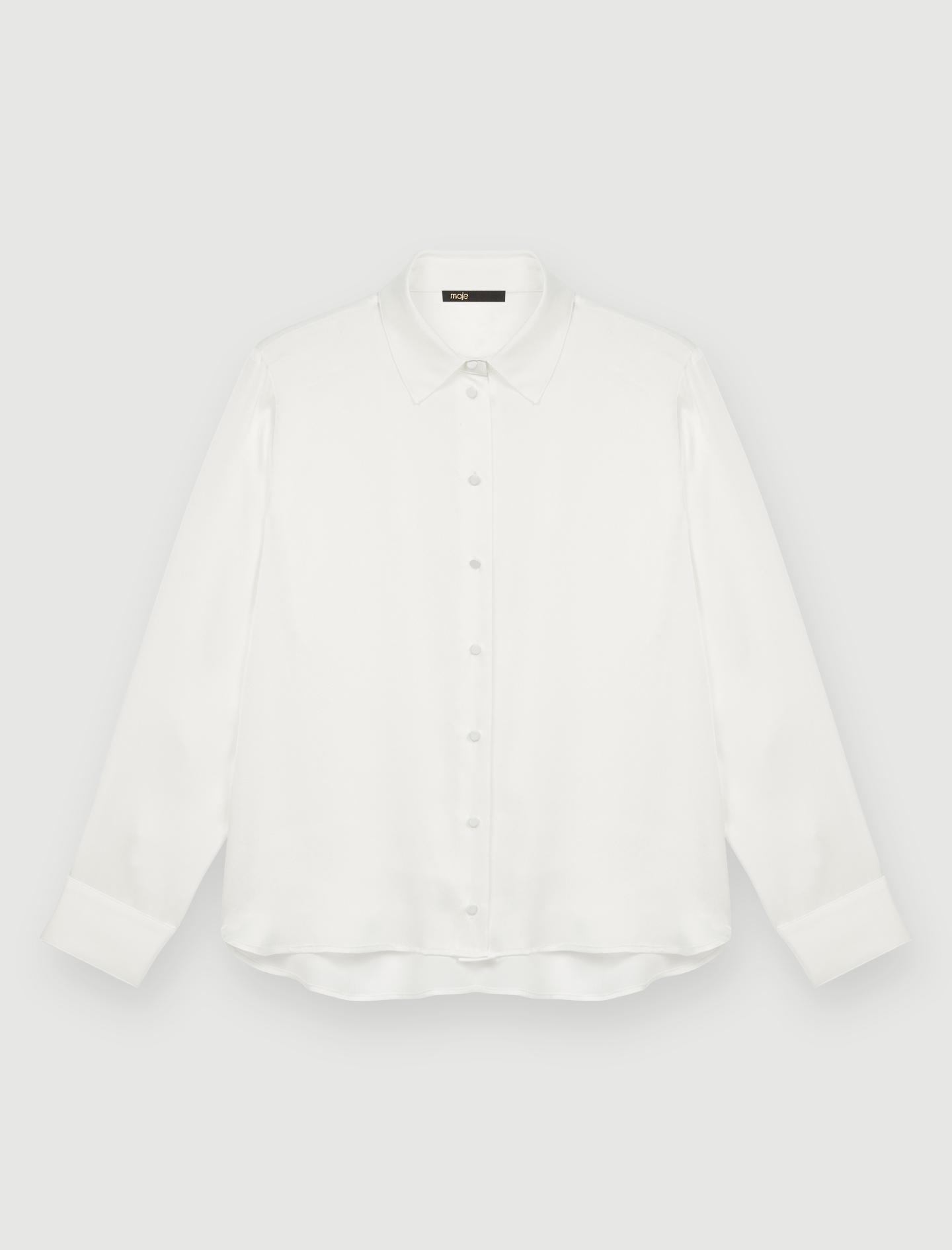White silk shirt - White