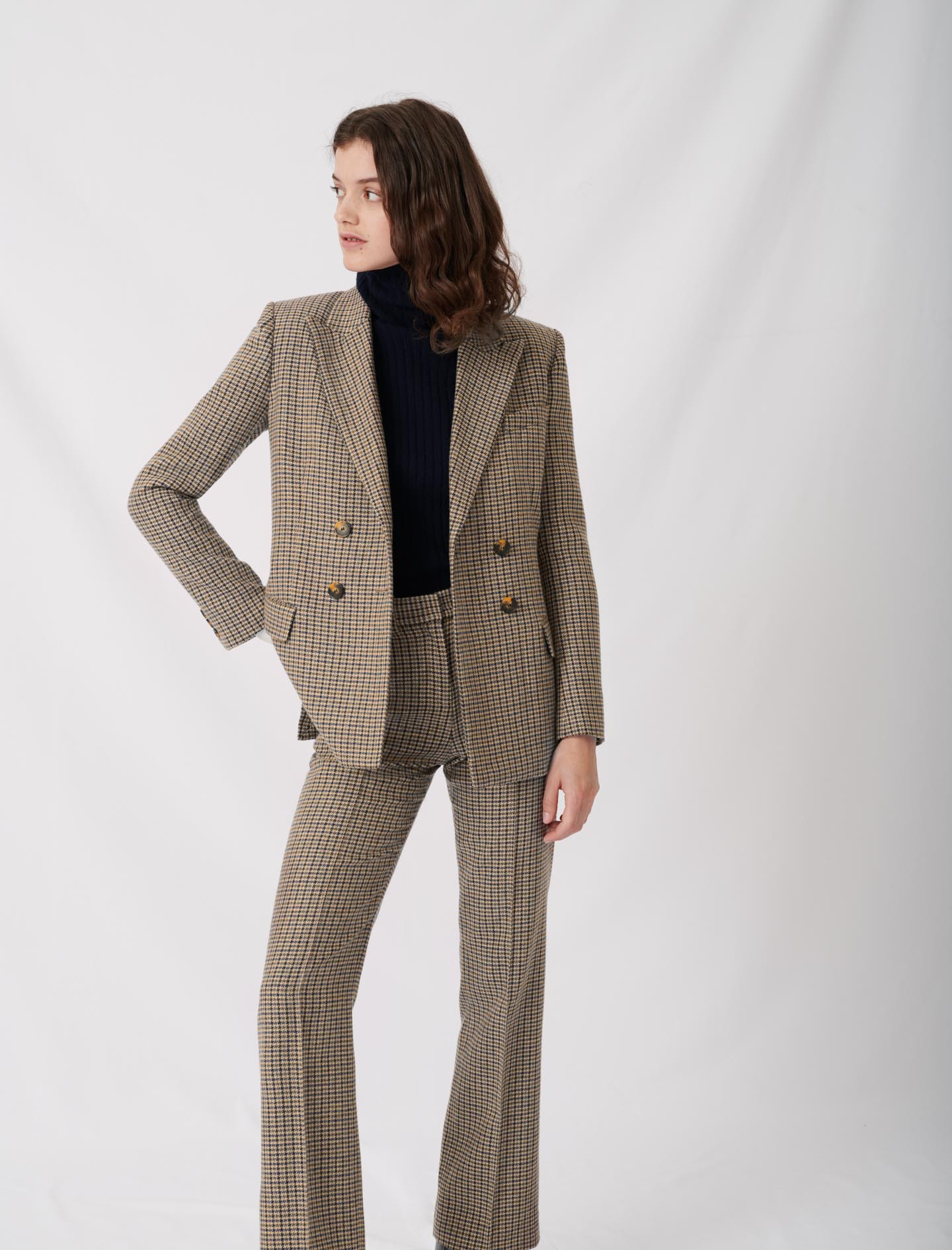 Checked suit jacket  - Multiclr