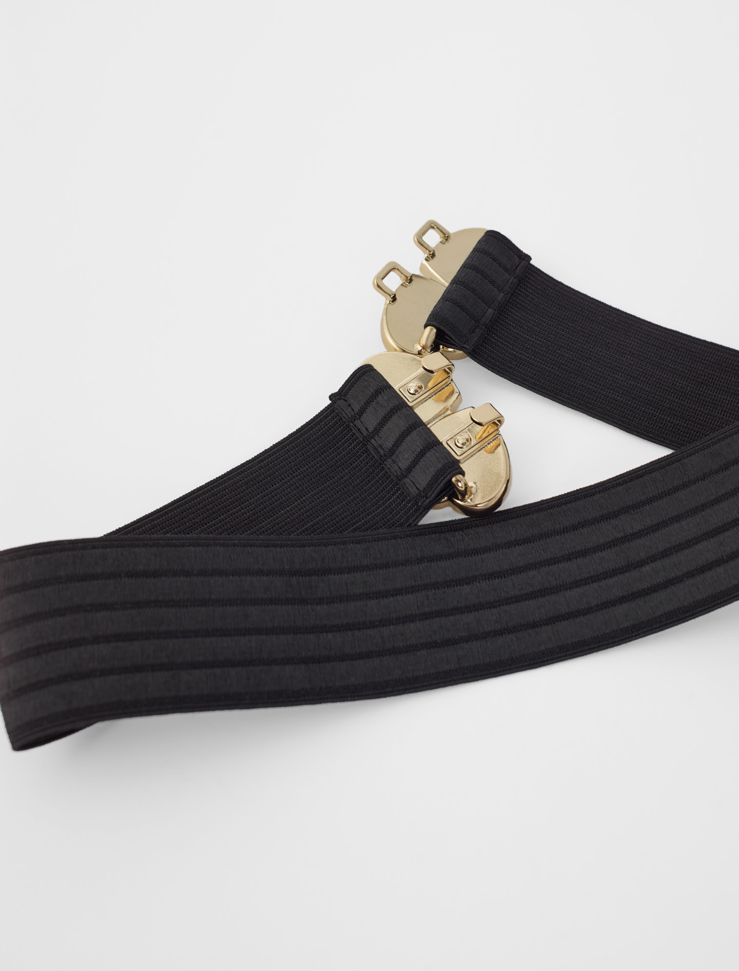 Elasticated belt with jewel fastening - Black