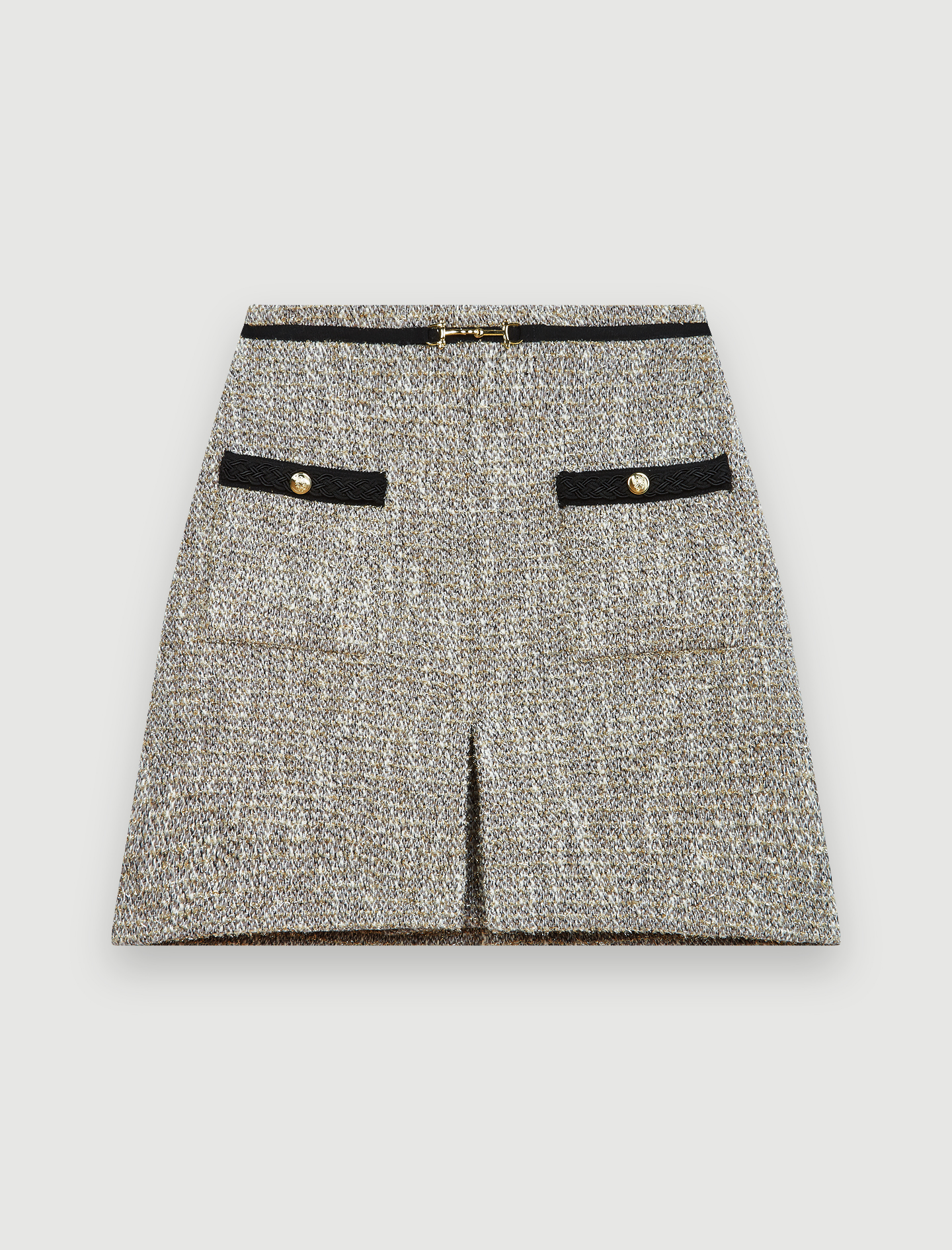 Recycled cotton tweed style skirt - Silver