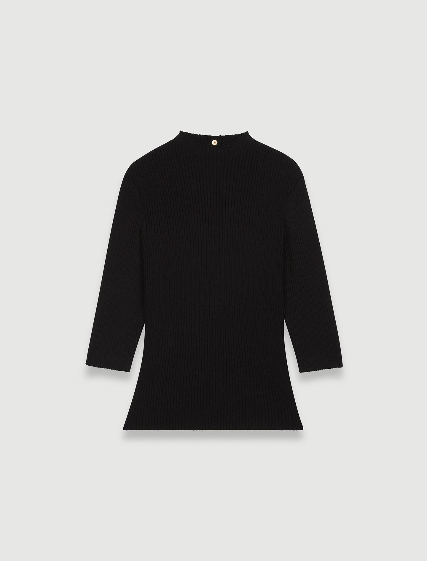 Sweater with fancy buttons on the back - Black