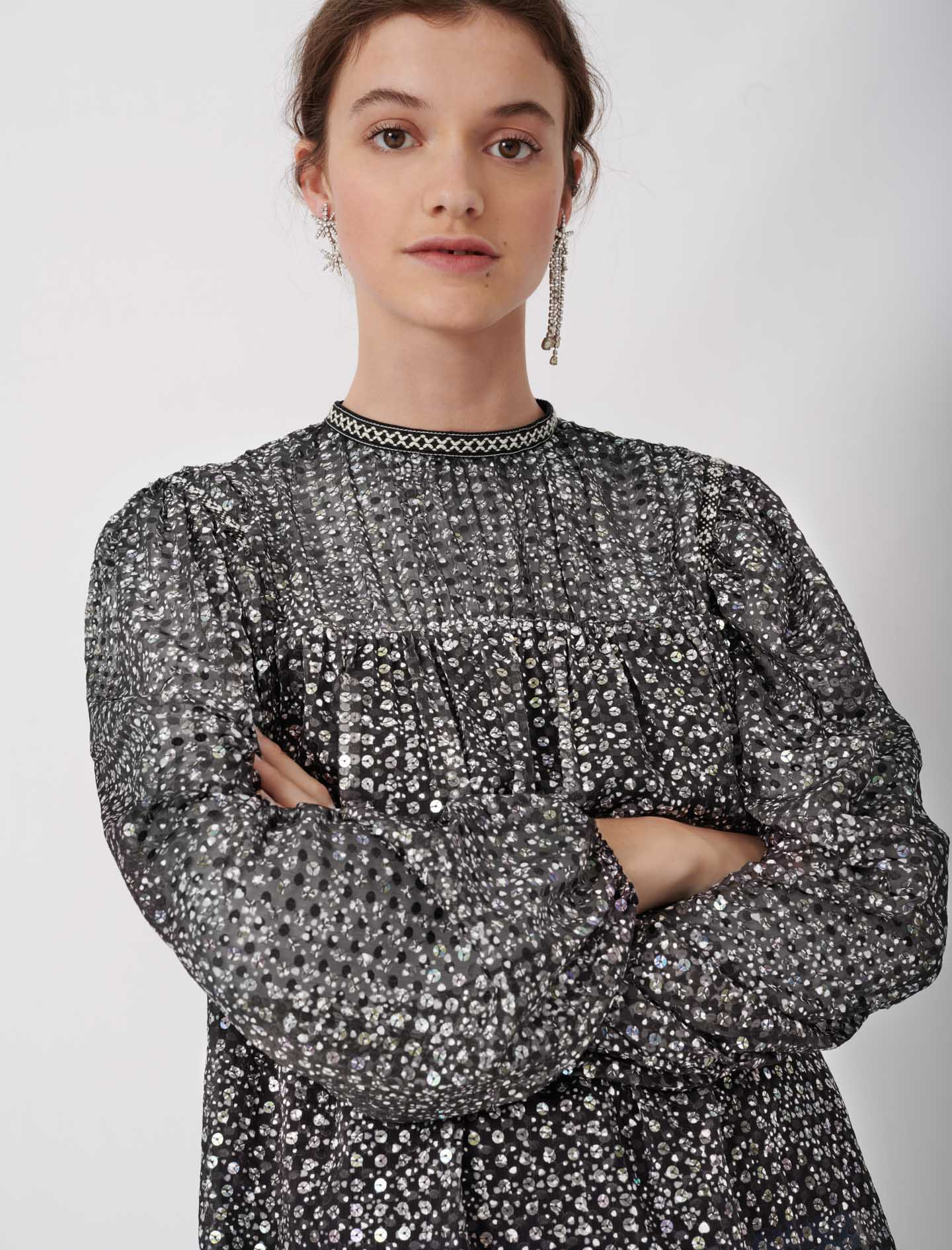 Sequin Top - Silver