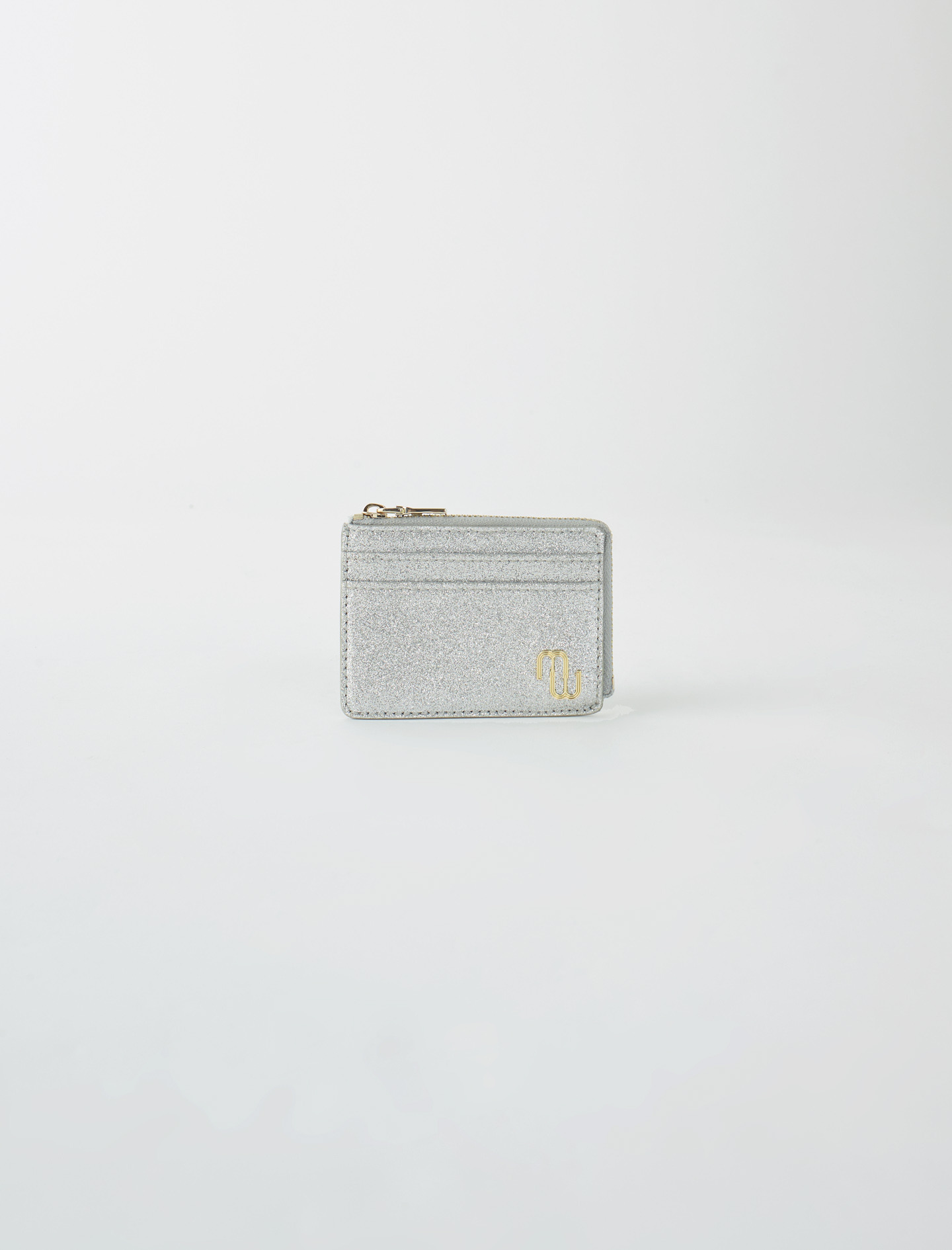 Double M glitter card holder - Silver