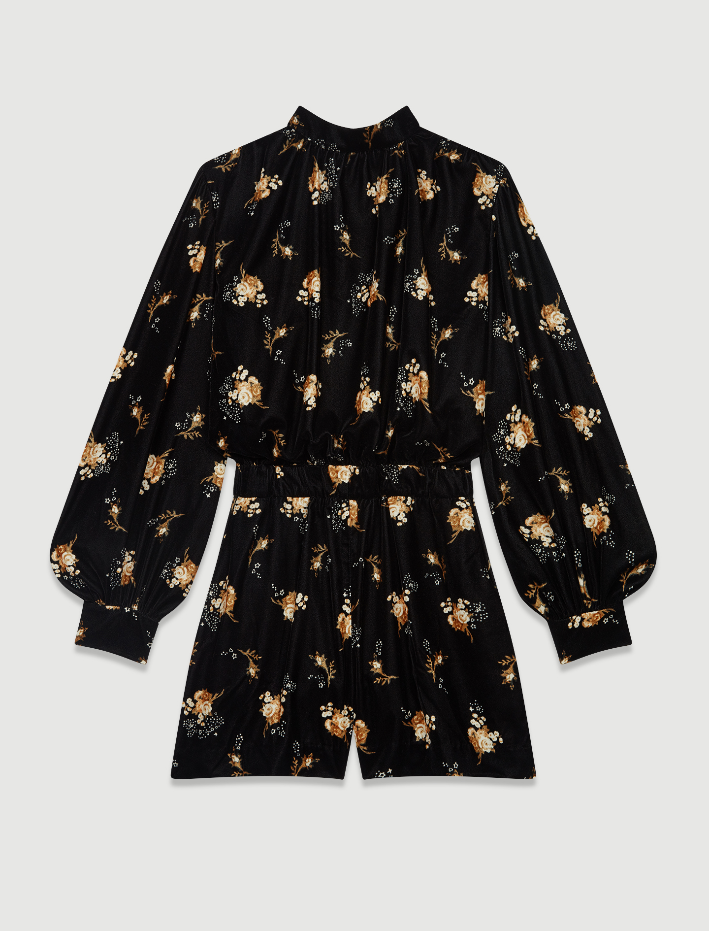 Printed velvet playsuit - Multiclr