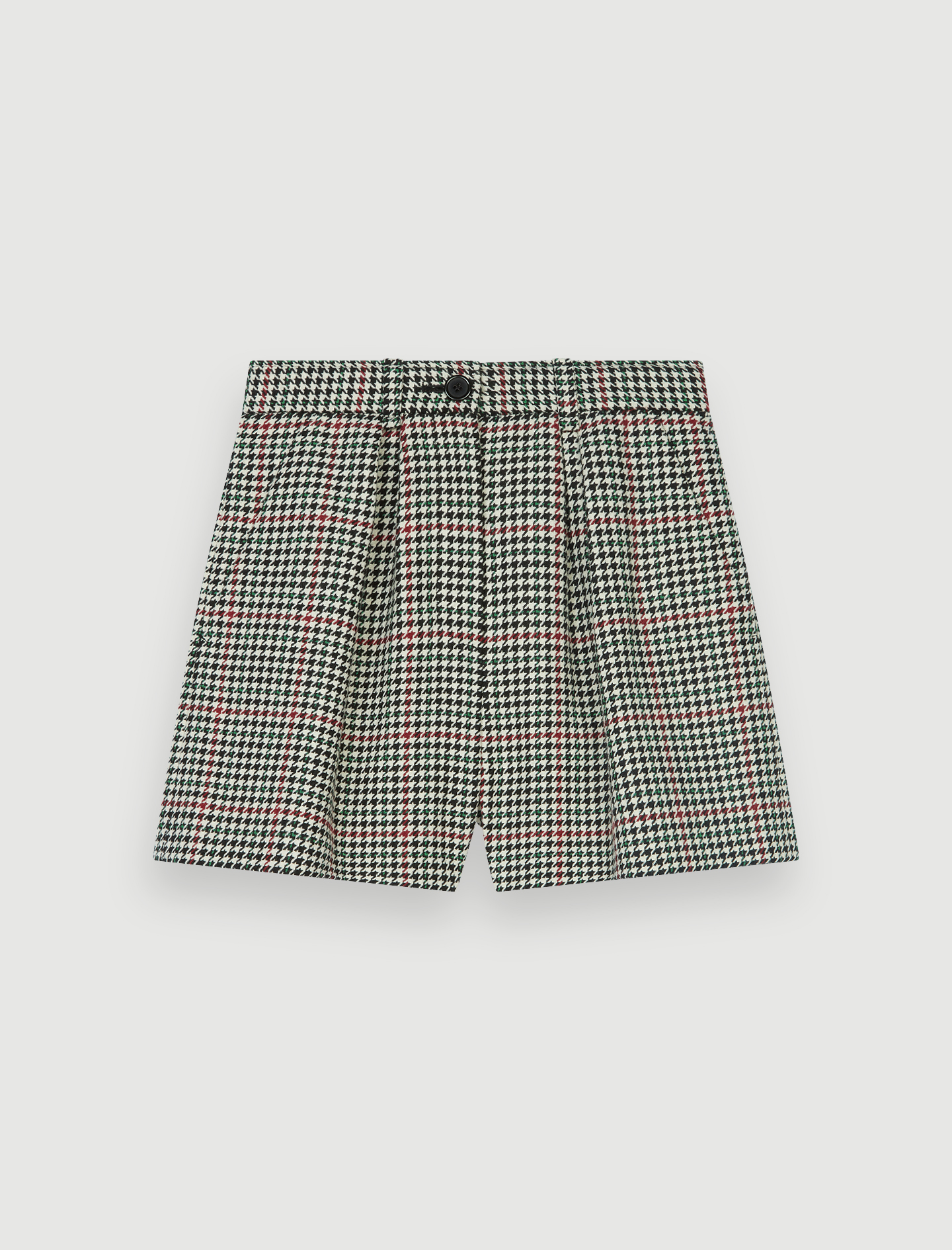 Wide checked shorts - Multiclr