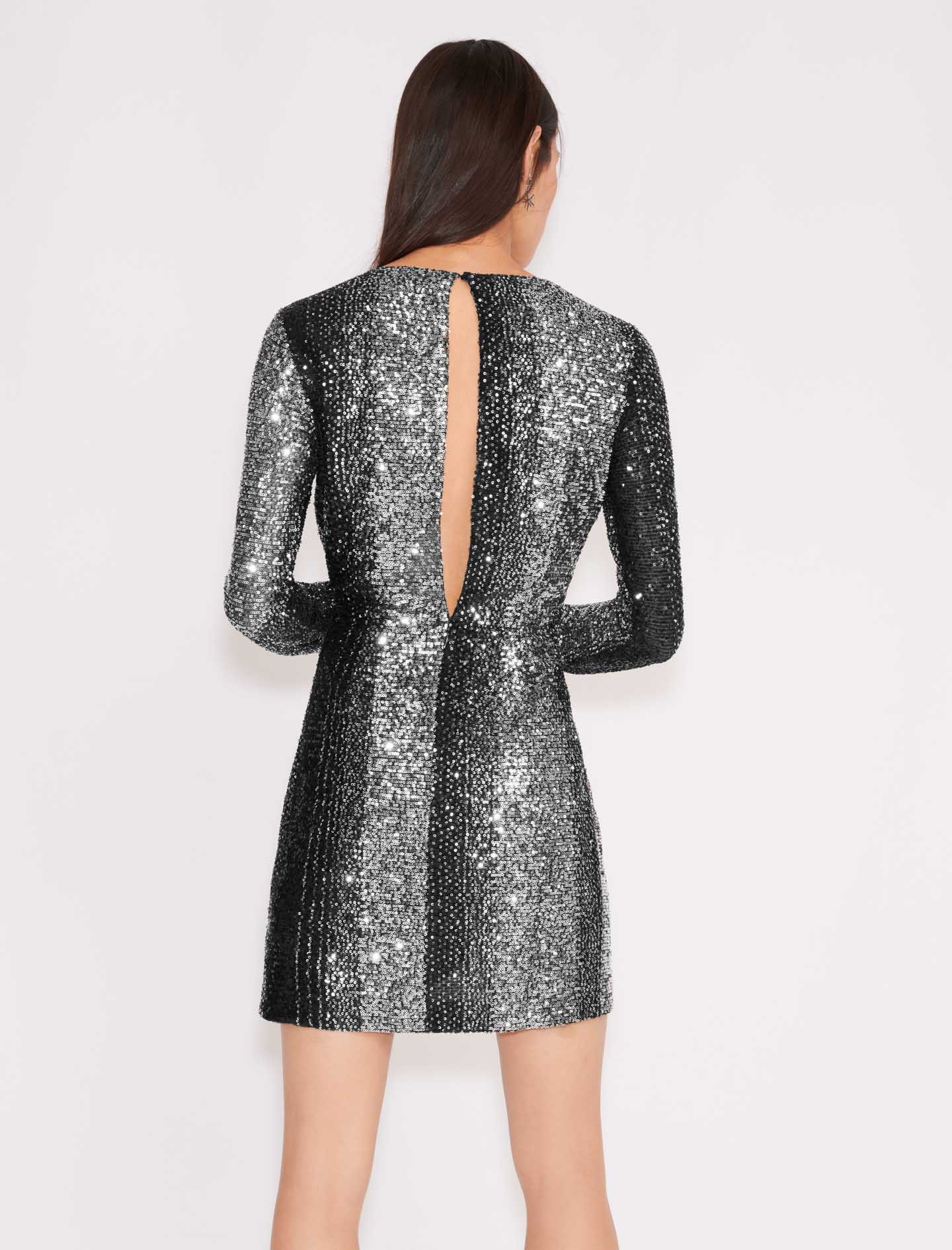 Bicolour sequin dress - Multiclr