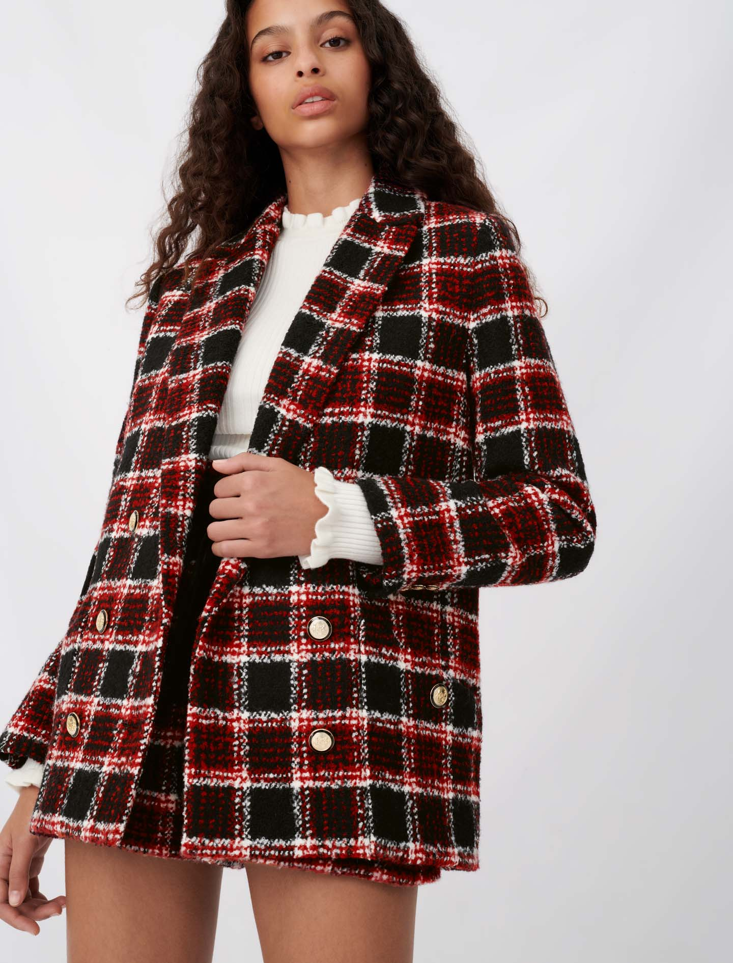 Tweed-style checked jacket - Multiclr