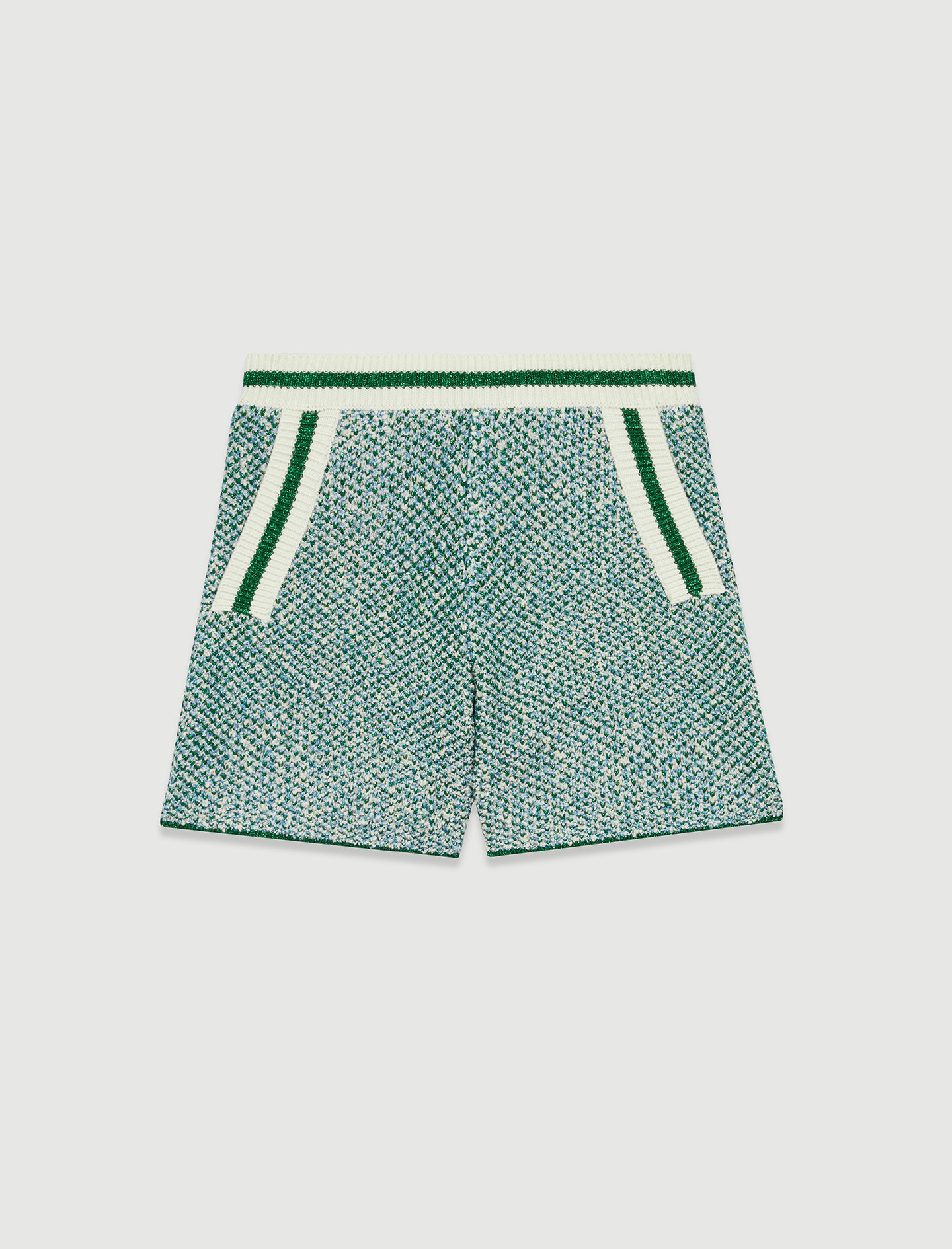 Green tween style shorts with contrast trims - Multiclr
