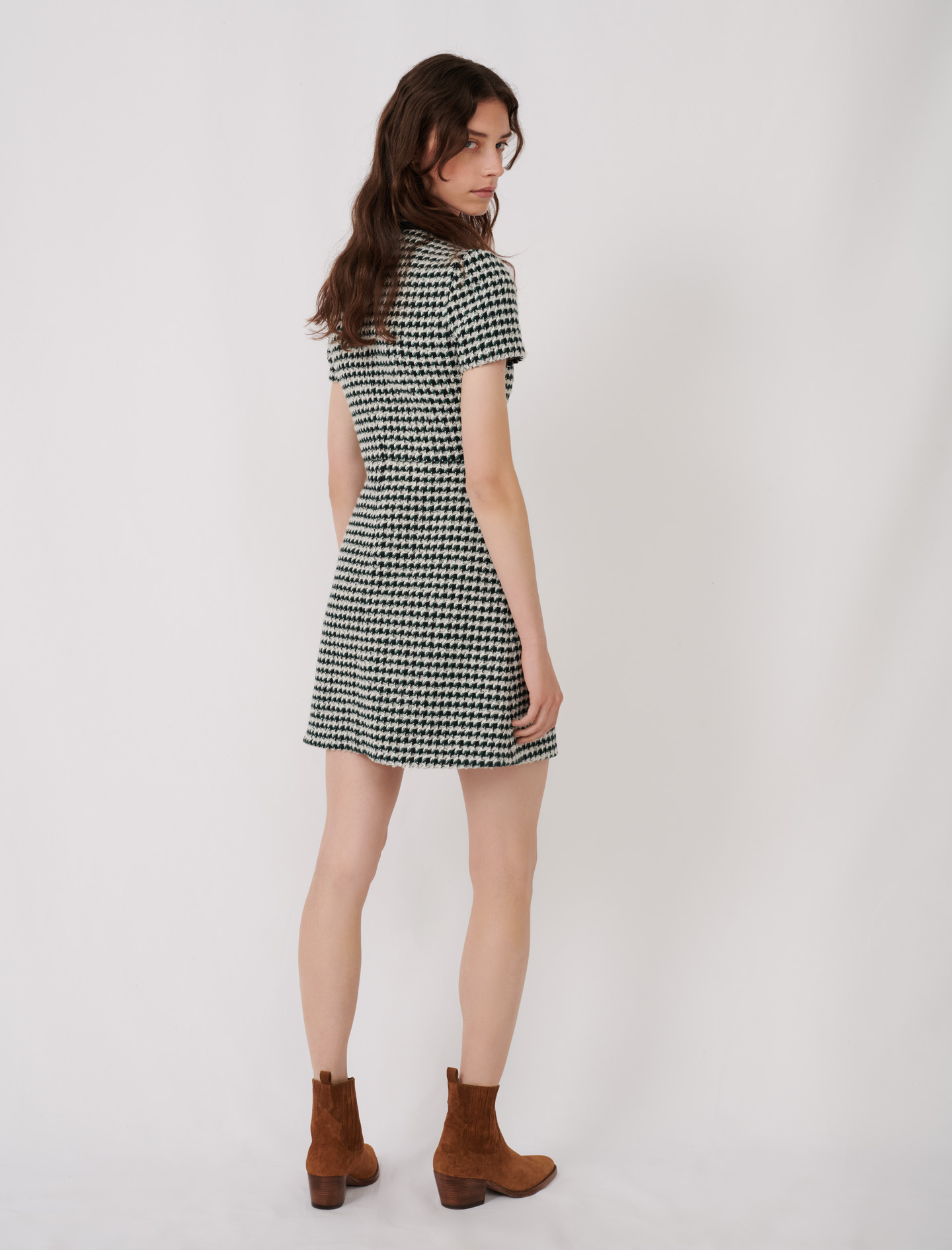 Contrast tweed dress - Multiclr