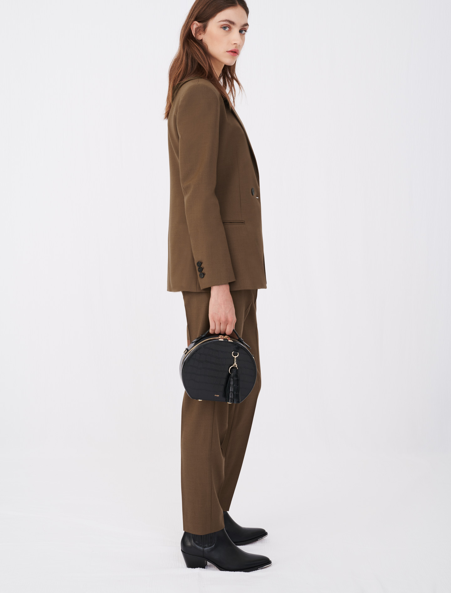 Fitted suit jacket - Brown