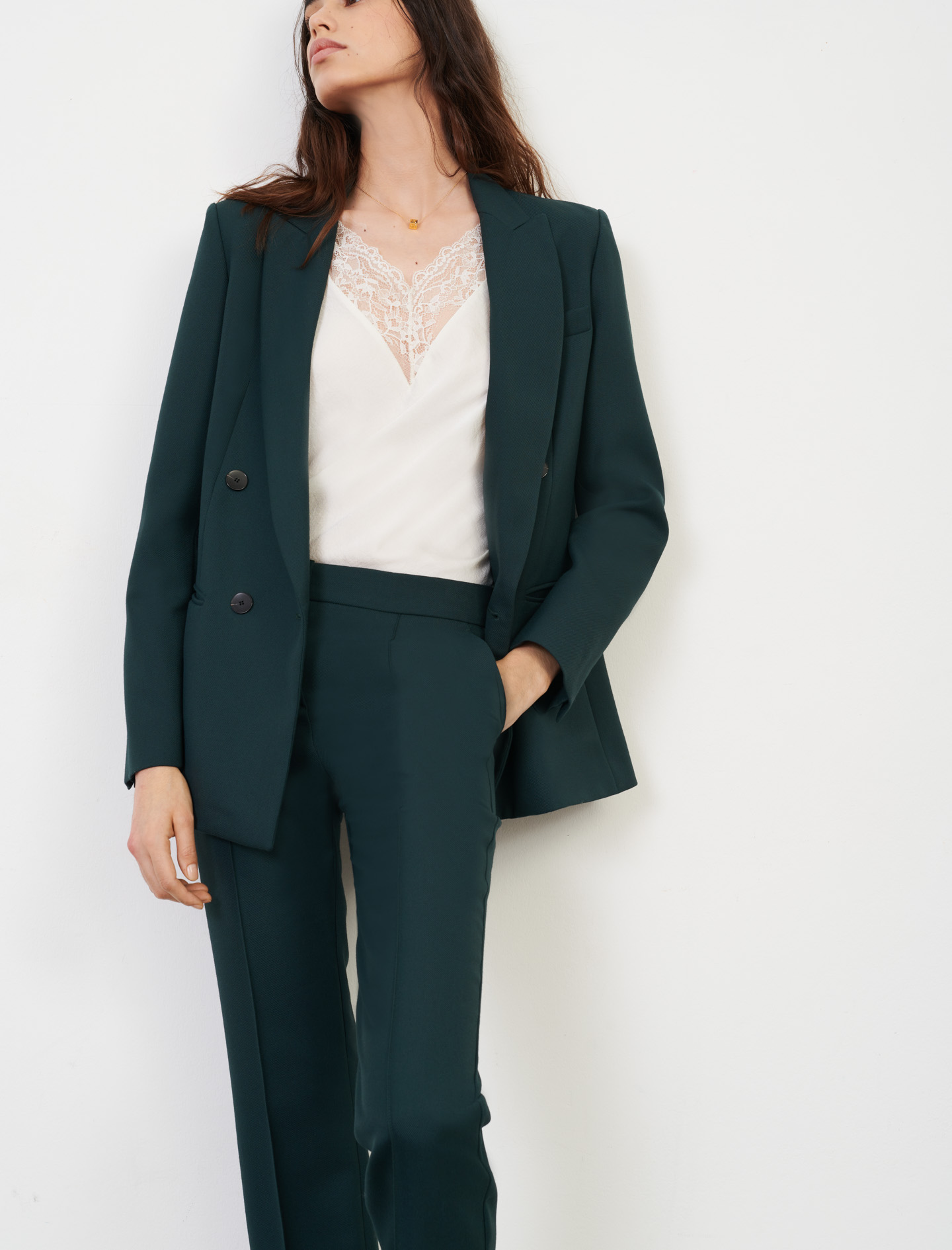 Maje Double-breasted suit jacket