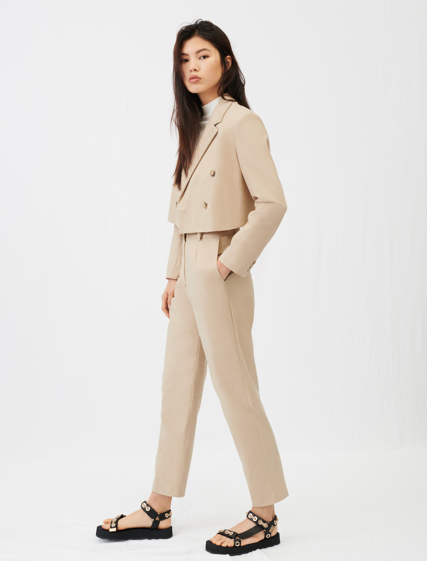 Maje Short double-breasted suit jacket