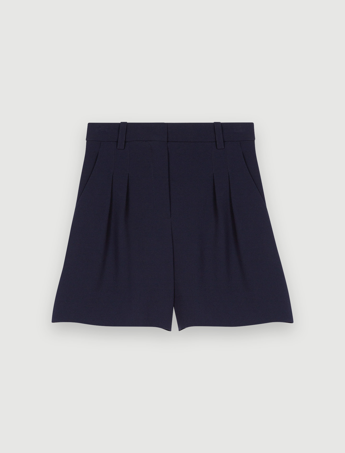 Maje Basic shorts in satin-backed crêpe