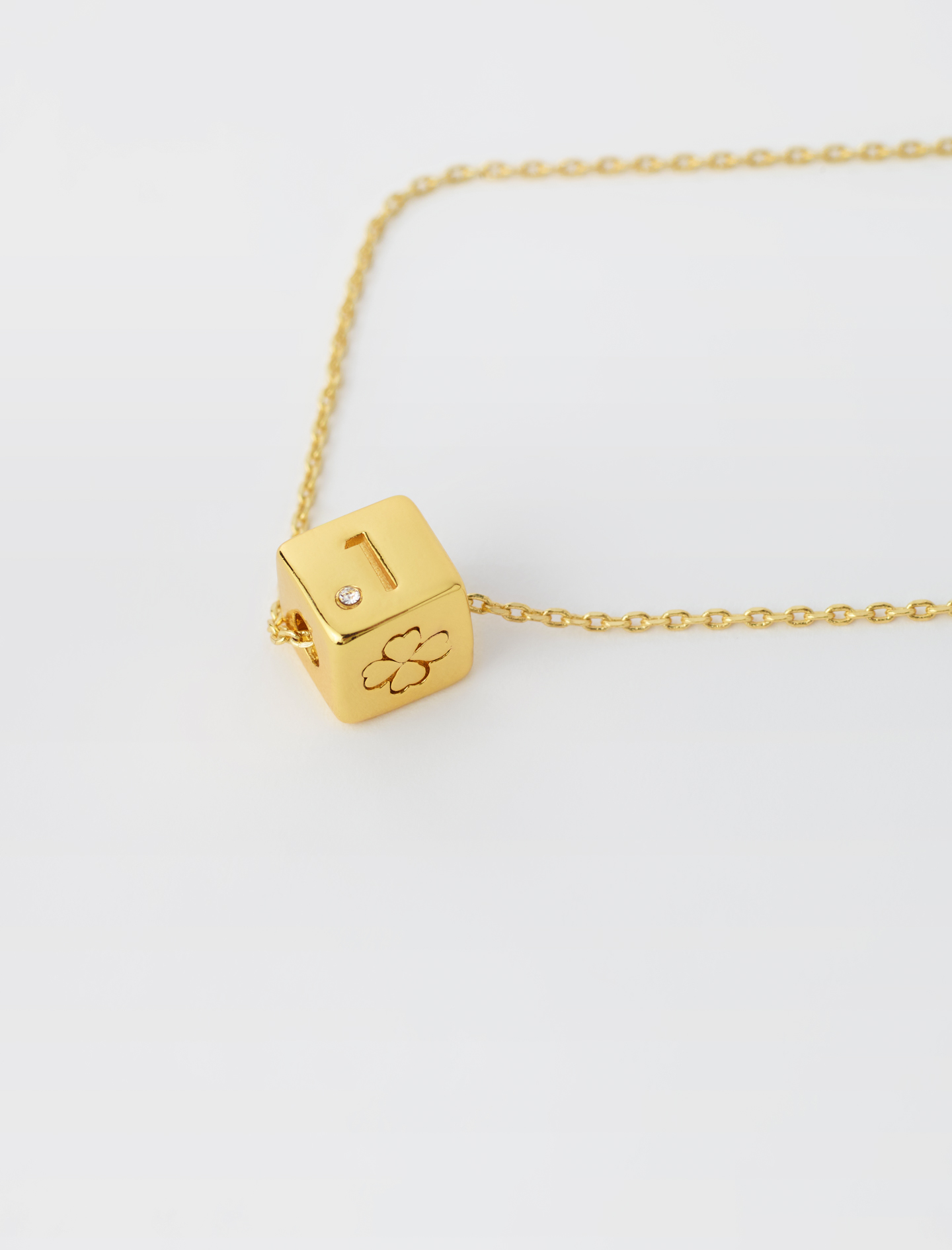 Number 1 dice necklace Gold by Maje Paris