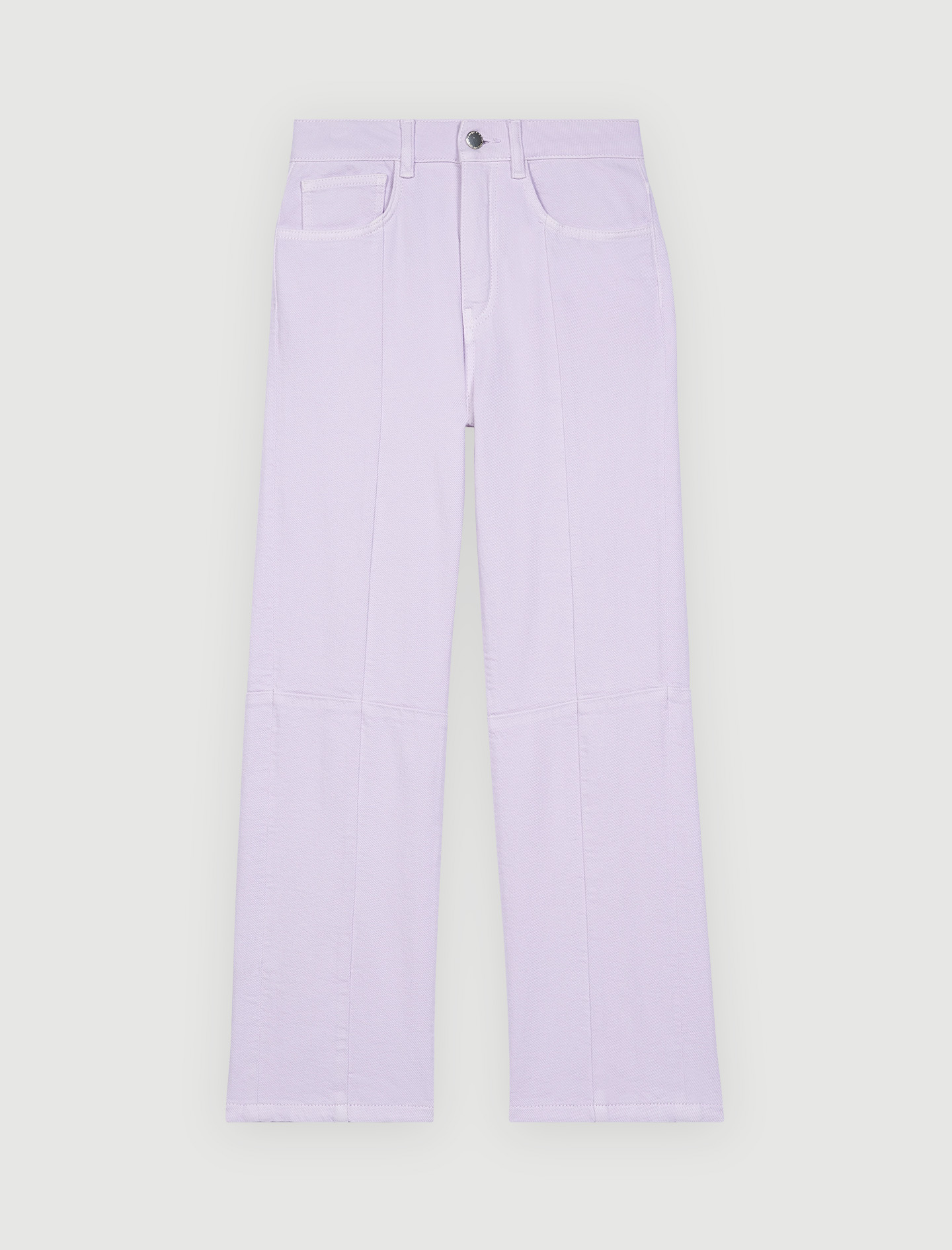 Maje Coloured straight-cut jeans with cutouts