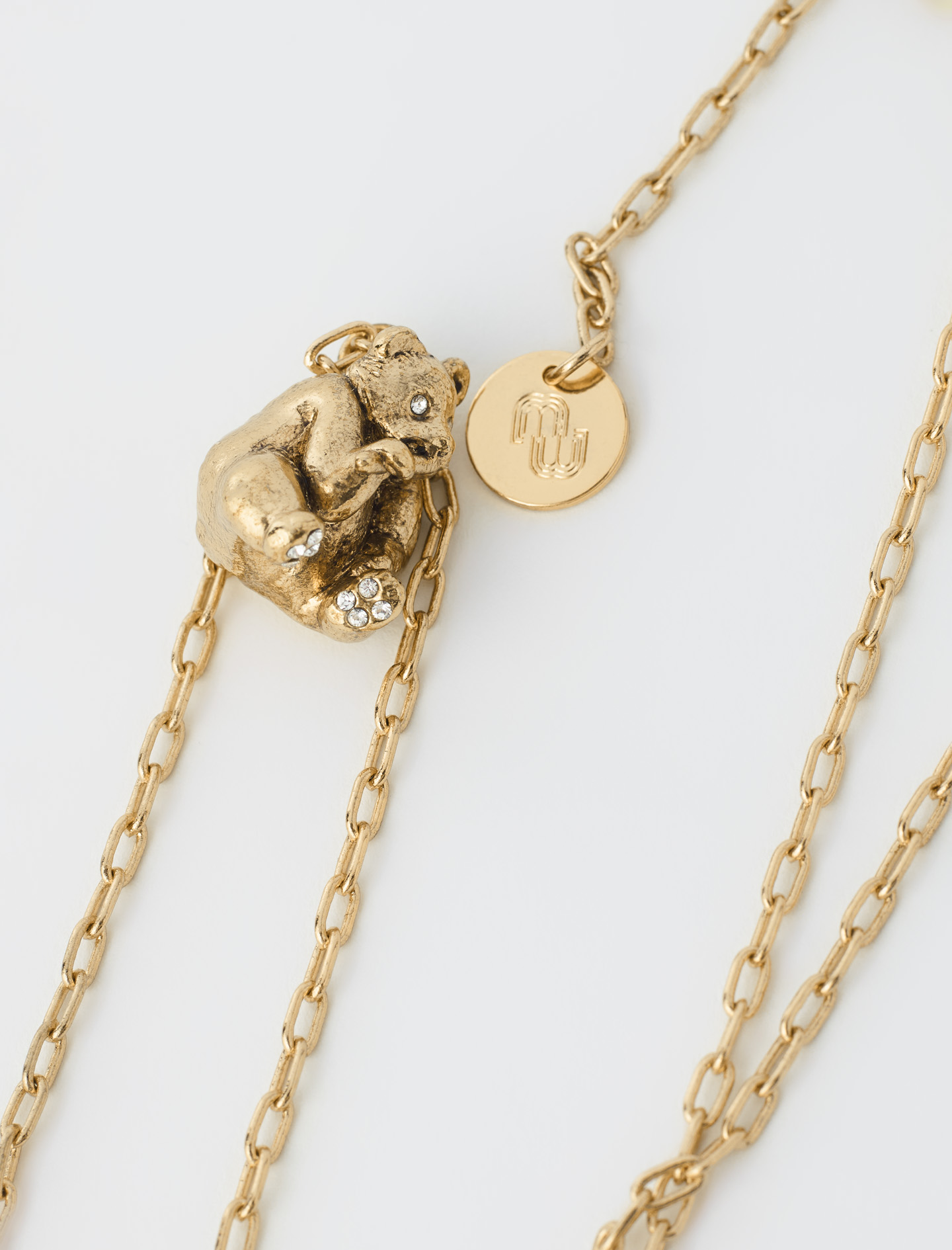 Maje Panda animal necklace