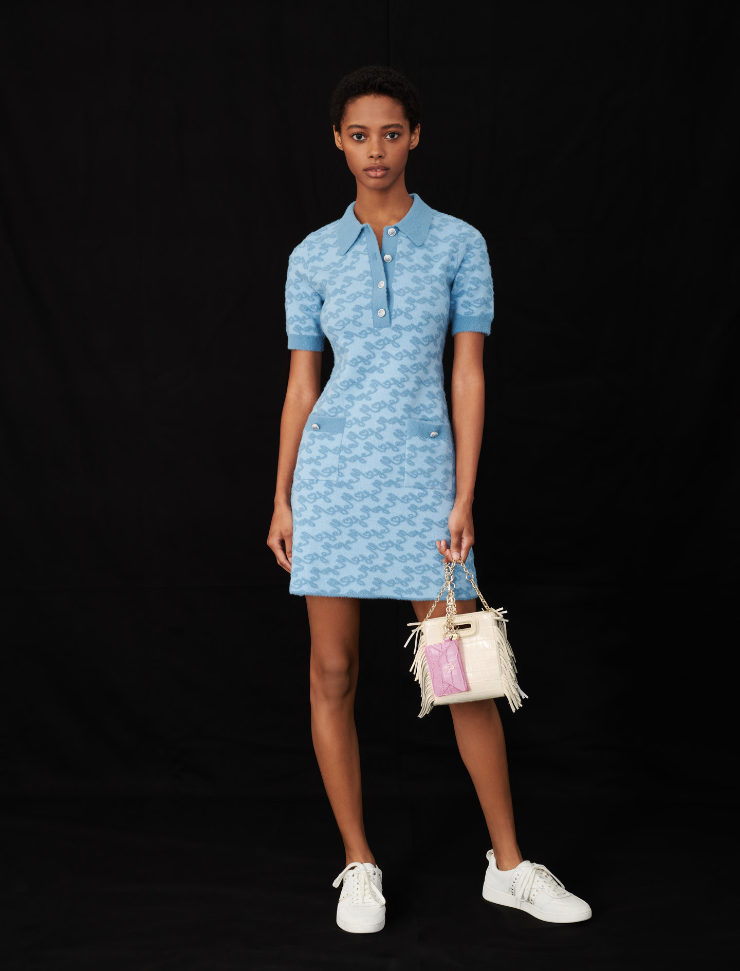 Maje jacquard dress - Blue