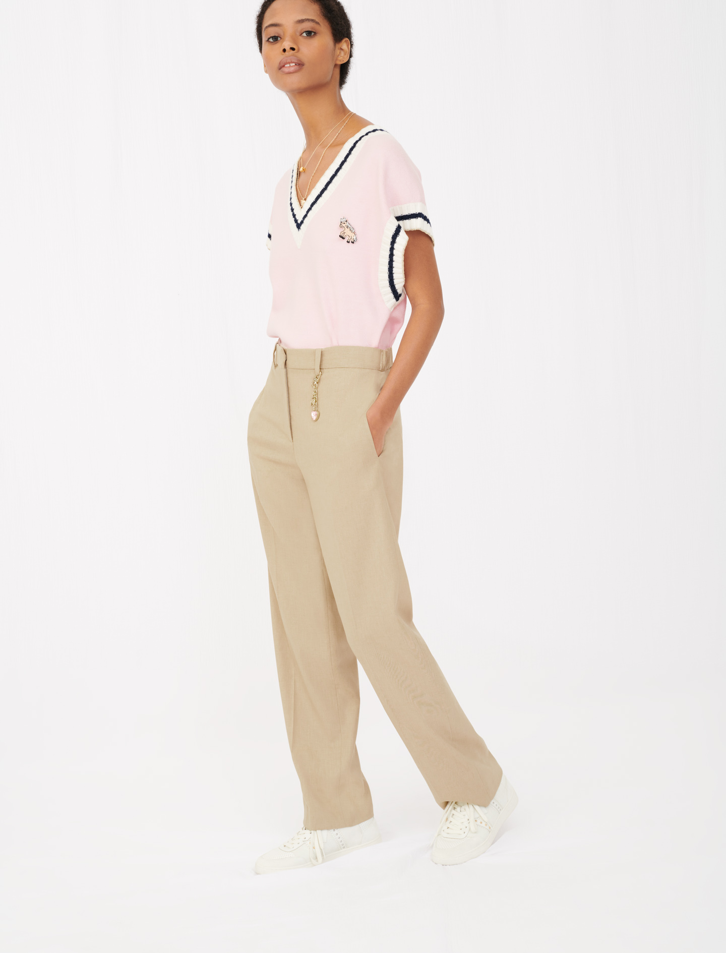 Maje Wide leg suit trousers