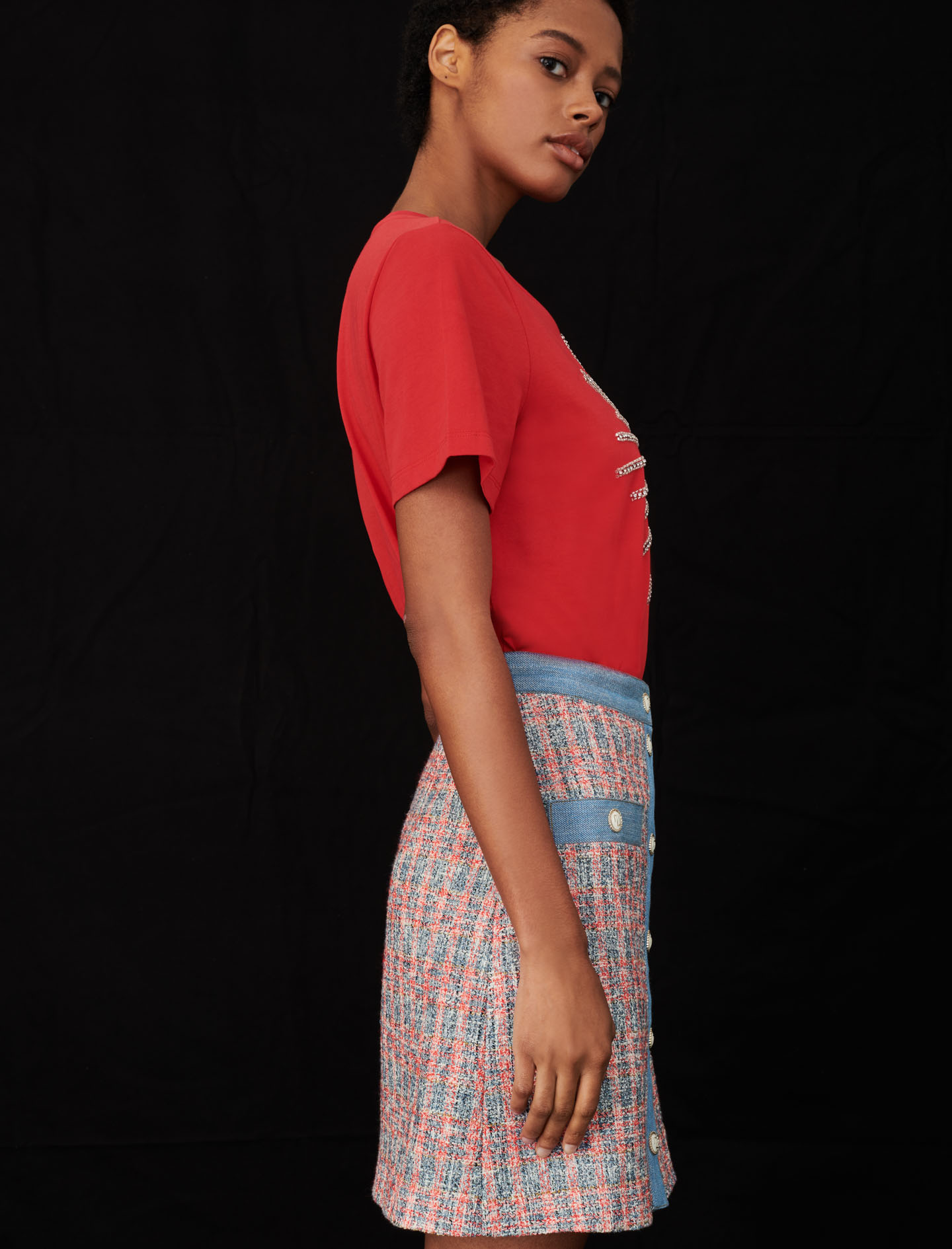 Maje Red Tella Tee Shirt