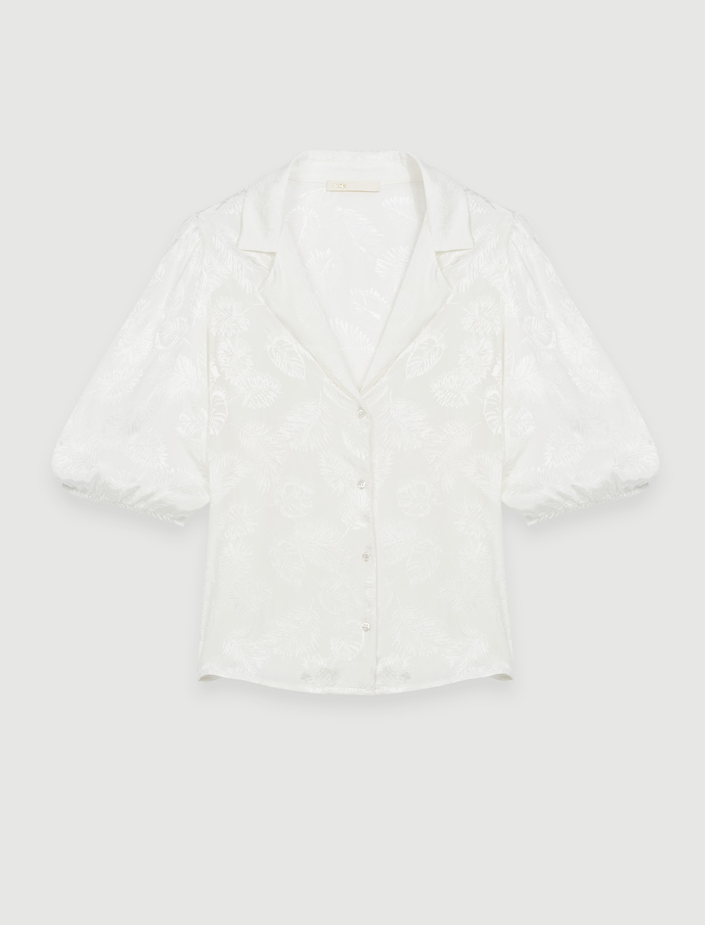Maje Flowing jacquard shirt