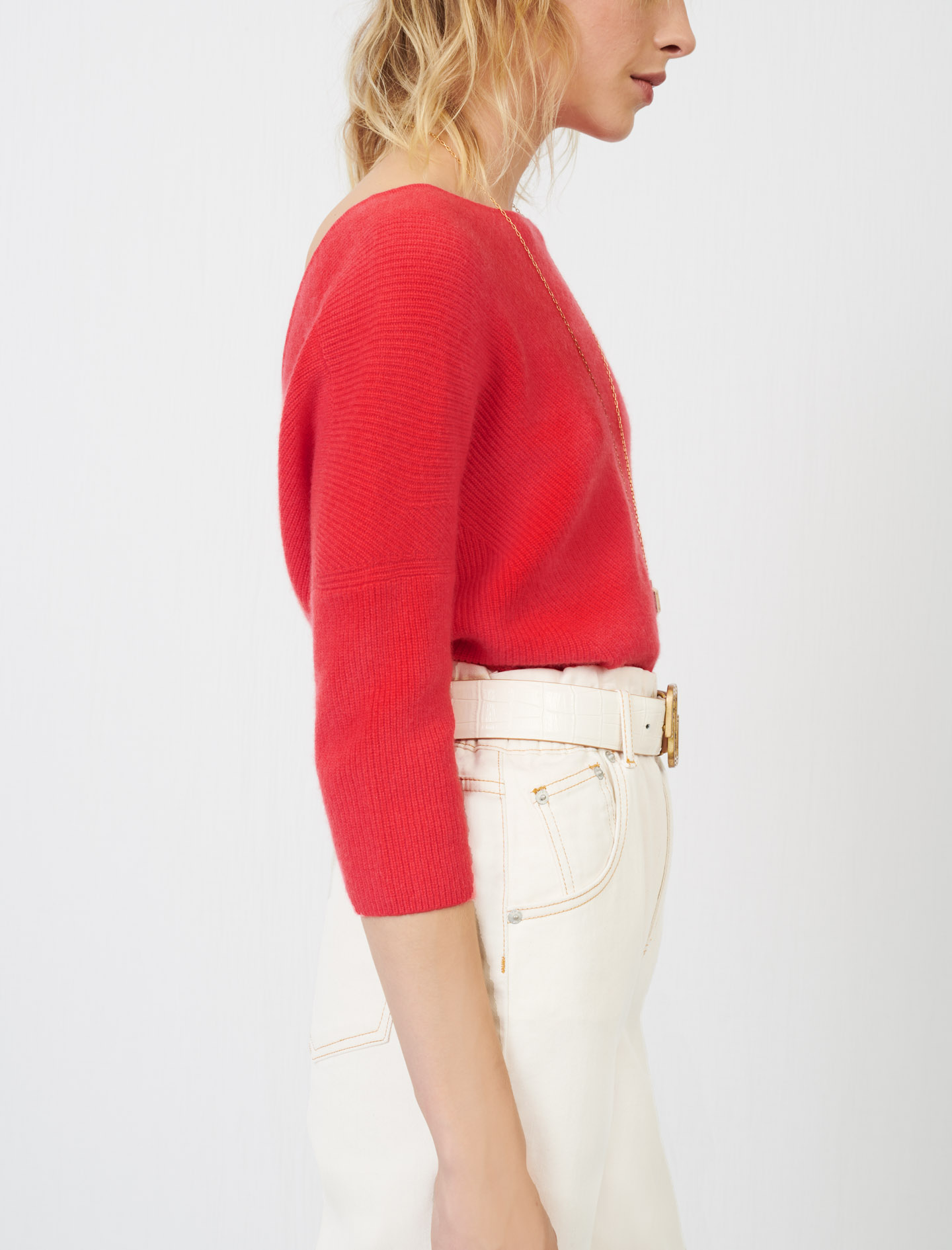 Low-back cashmere sweater - Multiclr