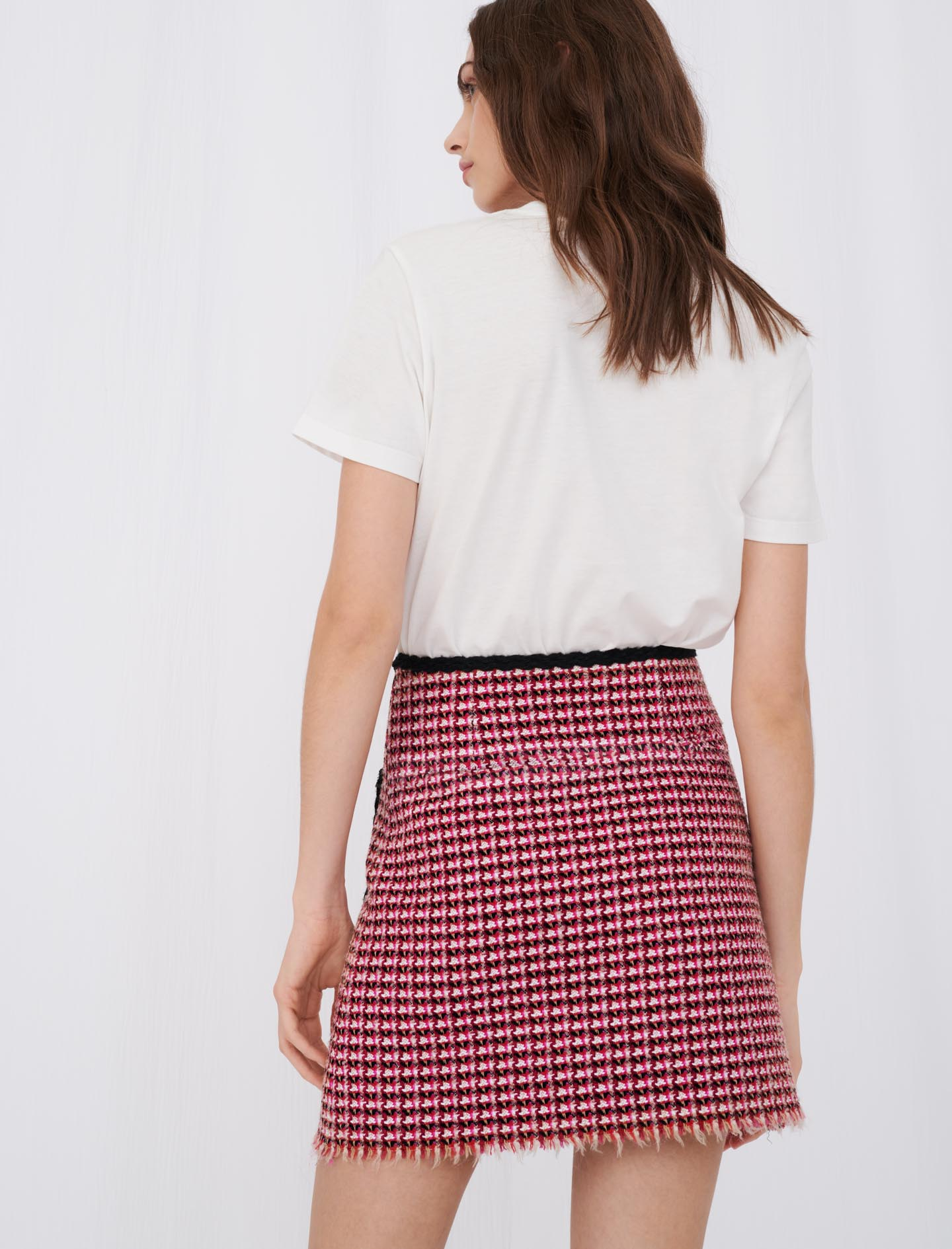 Maje Straight skirt in contrast tweed