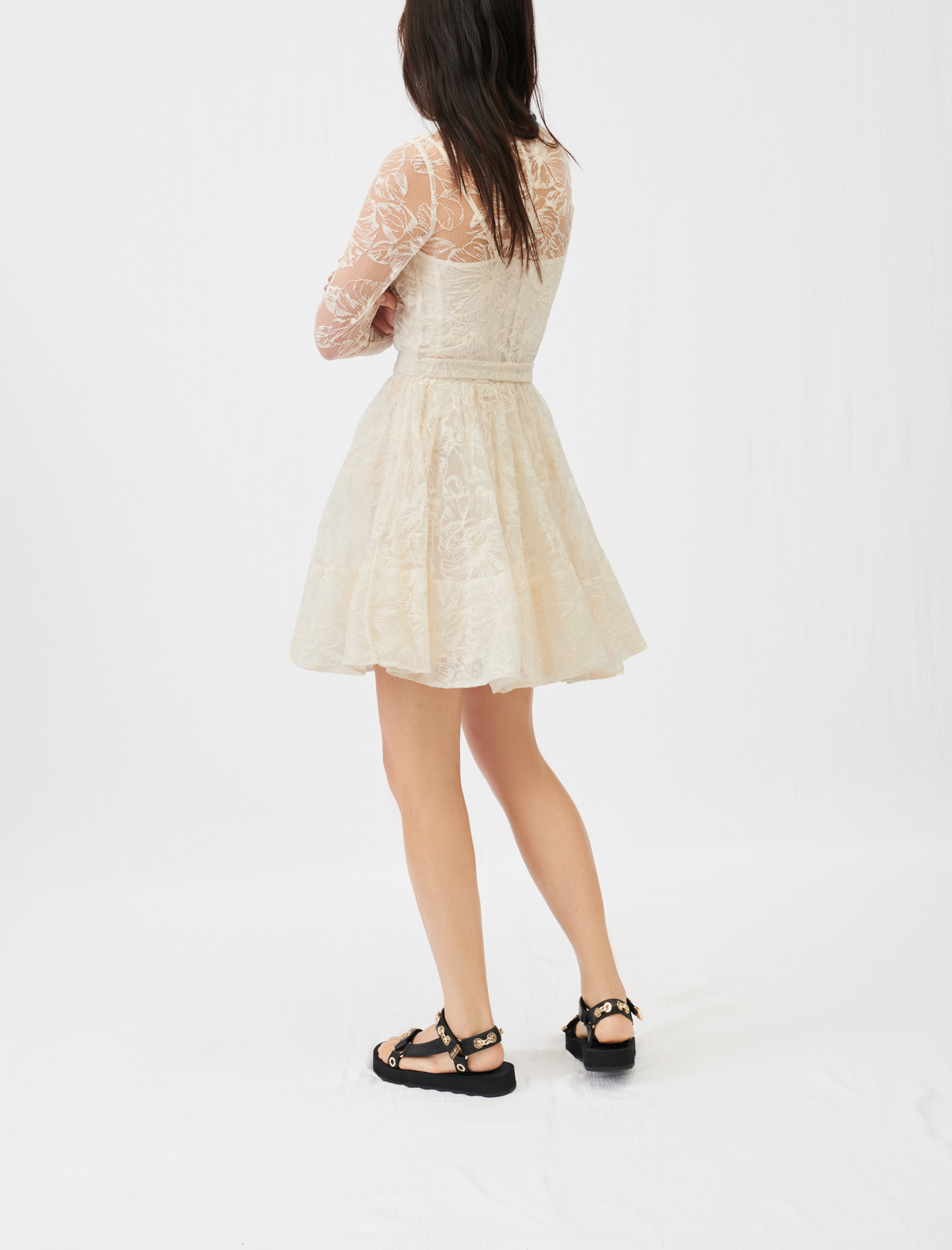Maje Belted lace dress