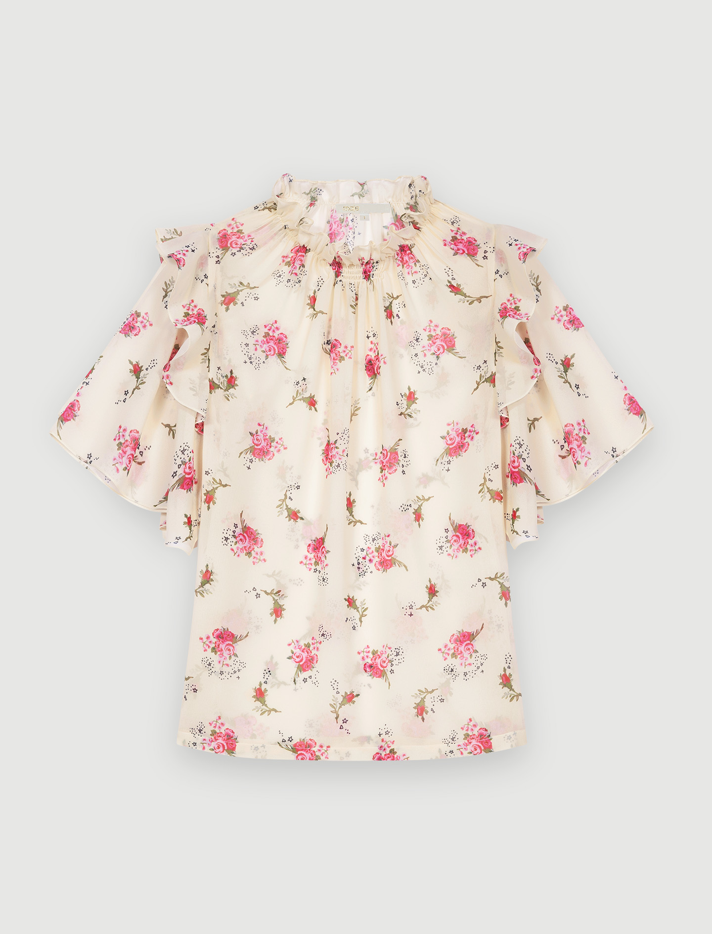 Maje Printed muslin top